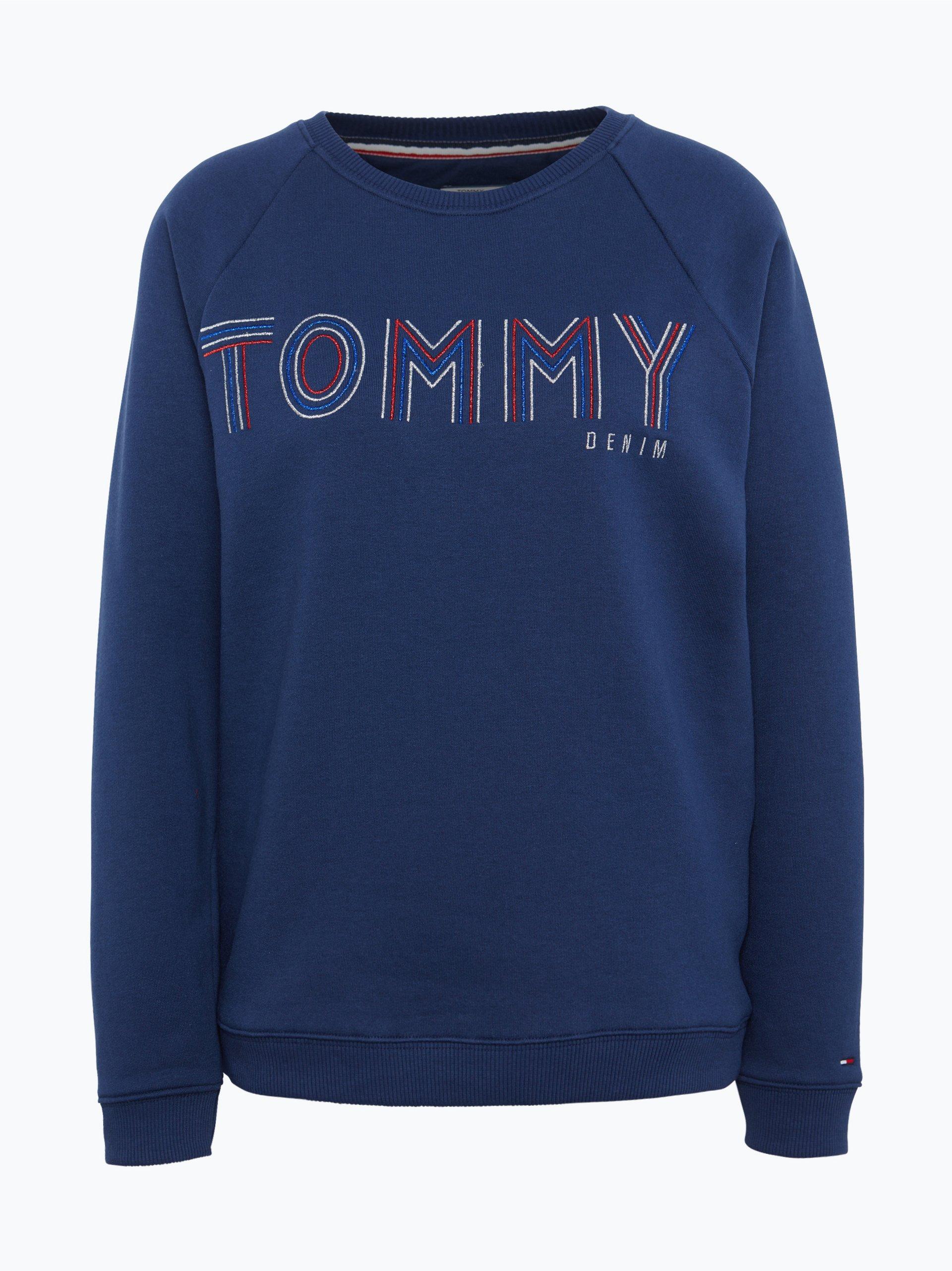 tommy jeans damen sweatshirt marine uni online kaufen. Black Bedroom Furniture Sets. Home Design Ideas
