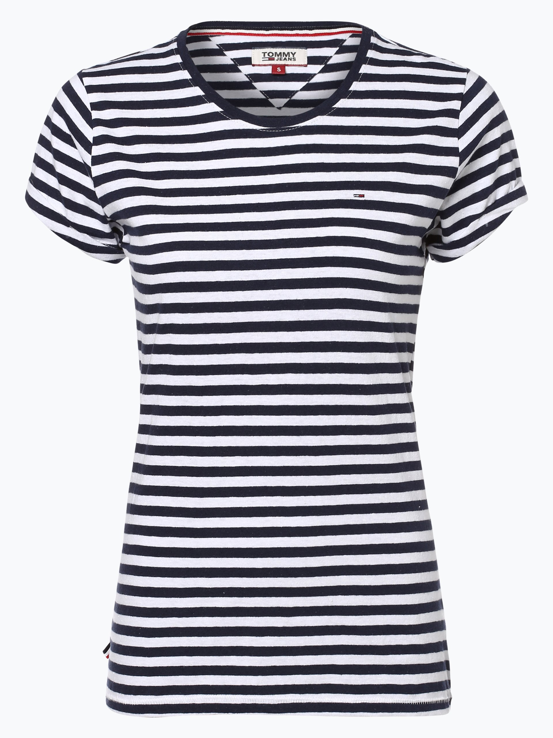 Tommy Jeans Damen T-Shirt mit Leinen-Anteil