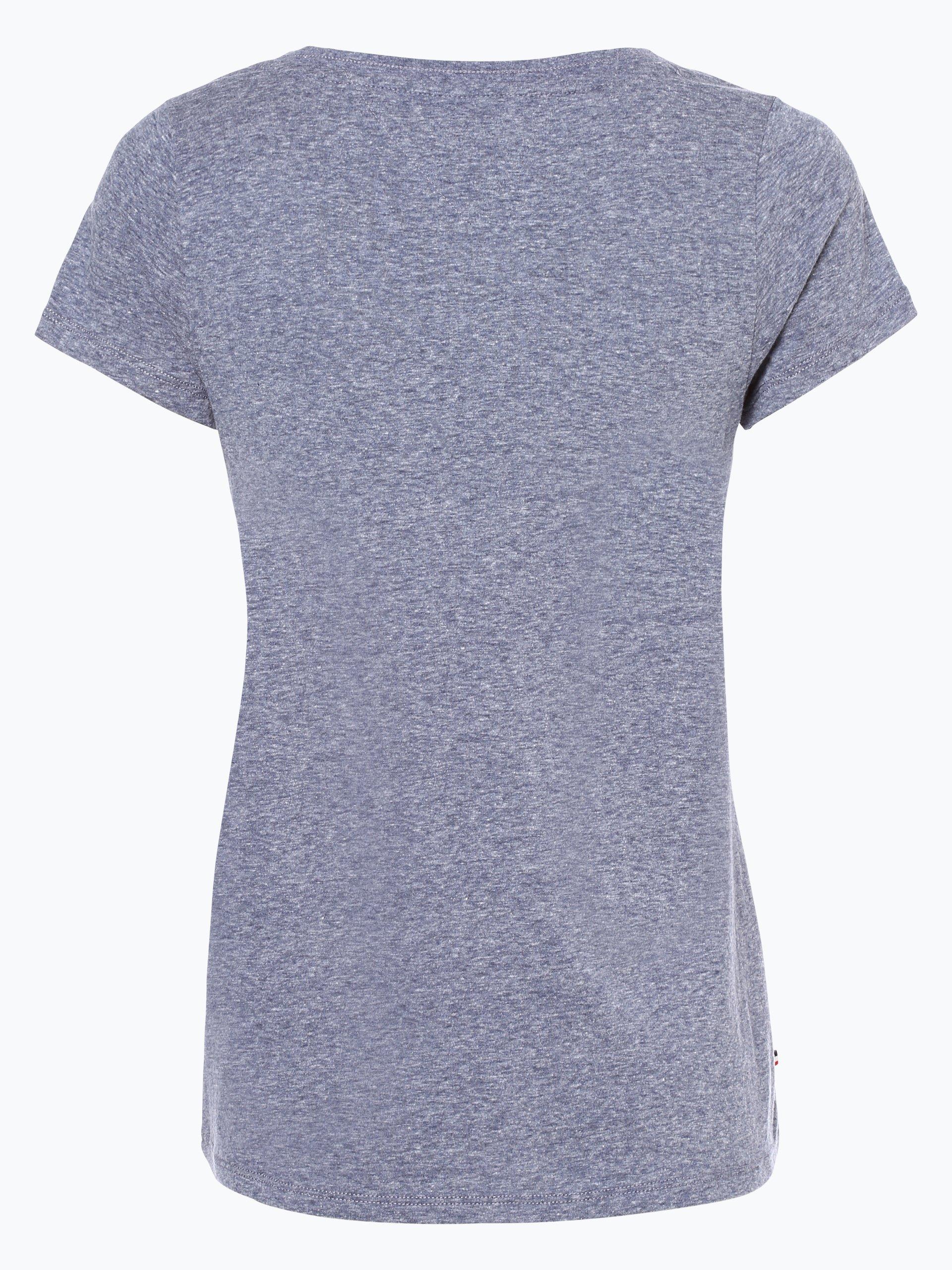 tommy jeans damen t shirt marine blau uni online kaufen. Black Bedroom Furniture Sets. Home Design Ideas
