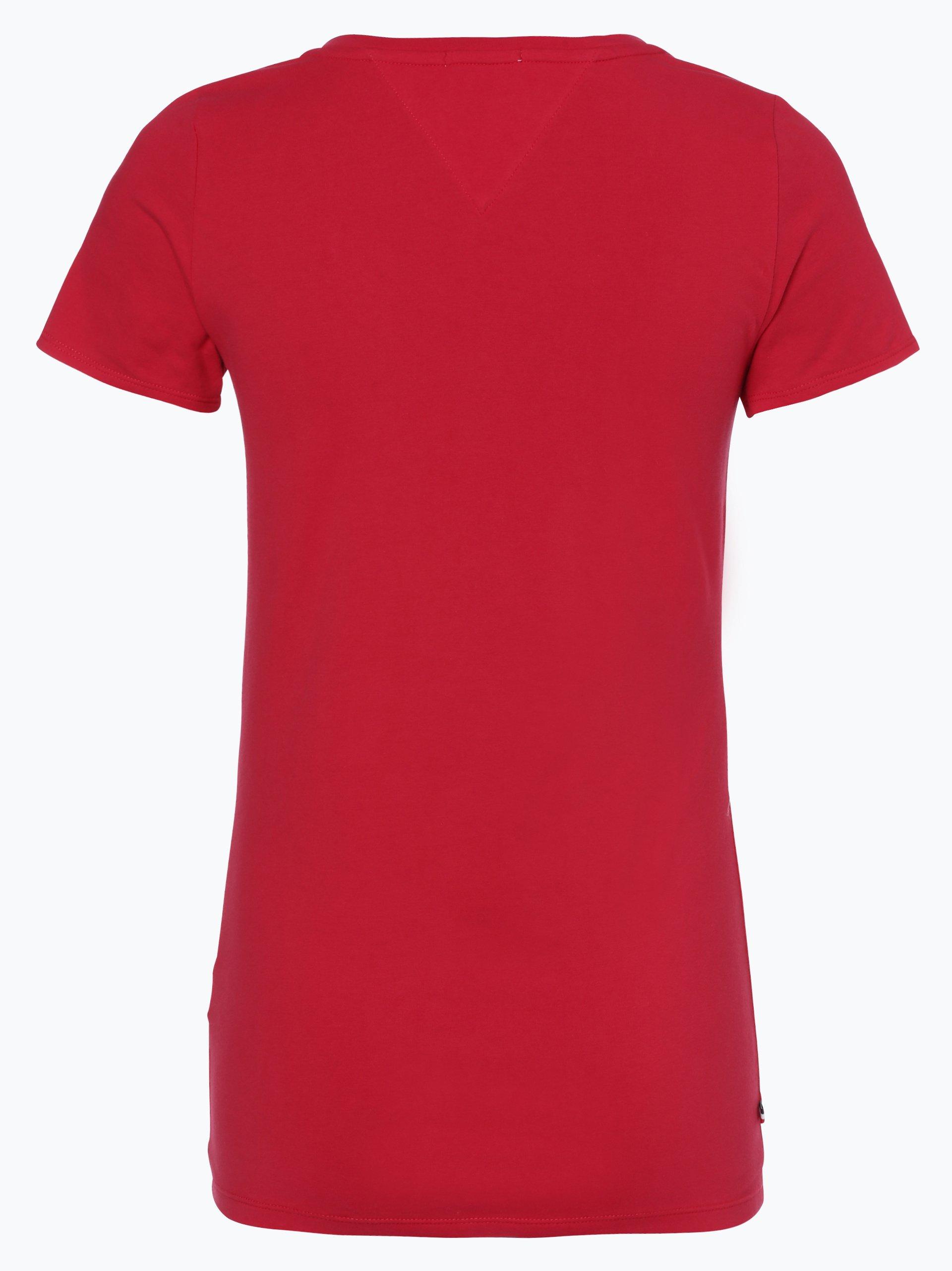 tommy jeans damen t shirt rot uni online kaufen vangraaf com. Black Bedroom Furniture Sets. Home Design Ideas