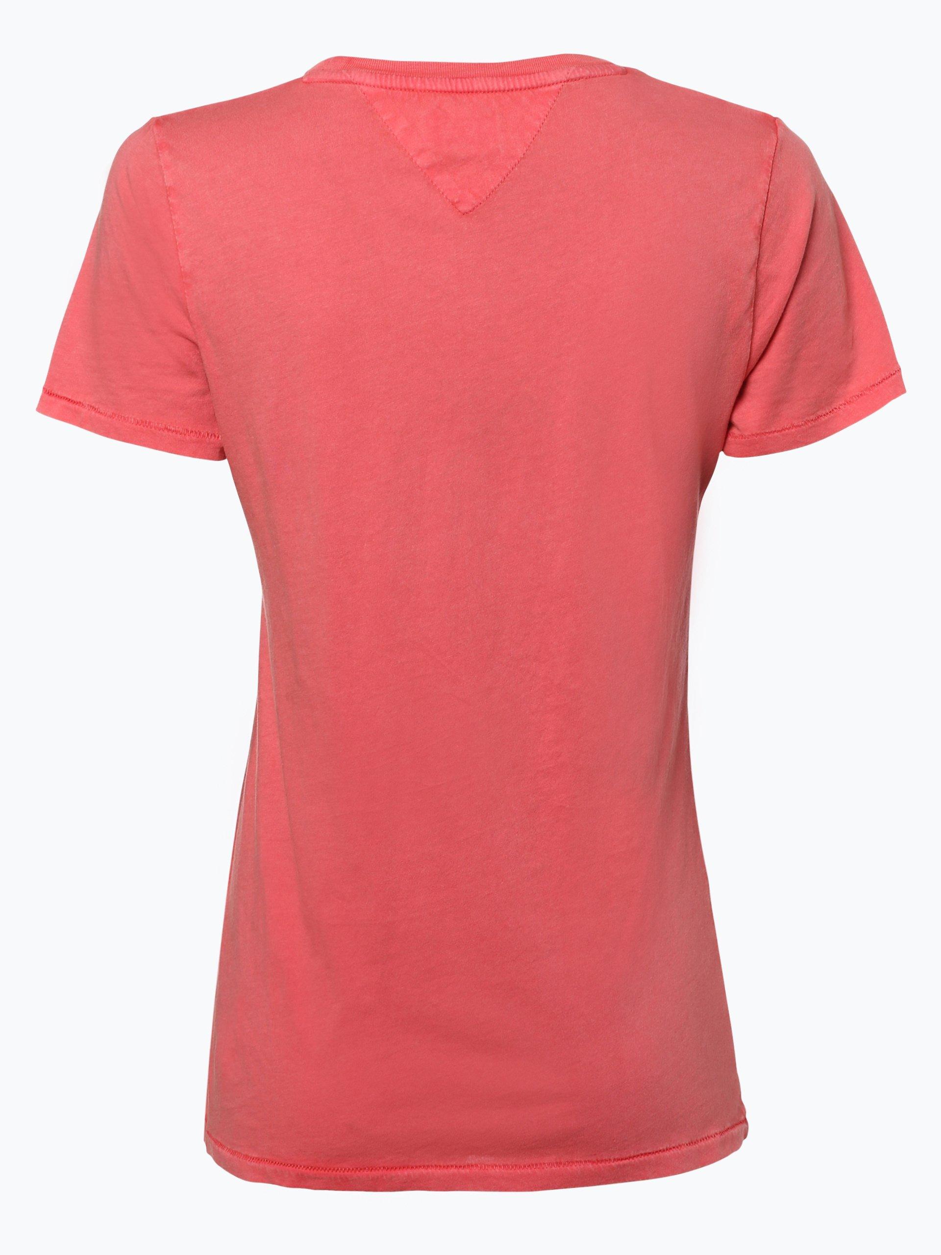 tommy jeans damen t shirt koralle gemustert online kaufen vangraaf com. Black Bedroom Furniture Sets. Home Design Ideas