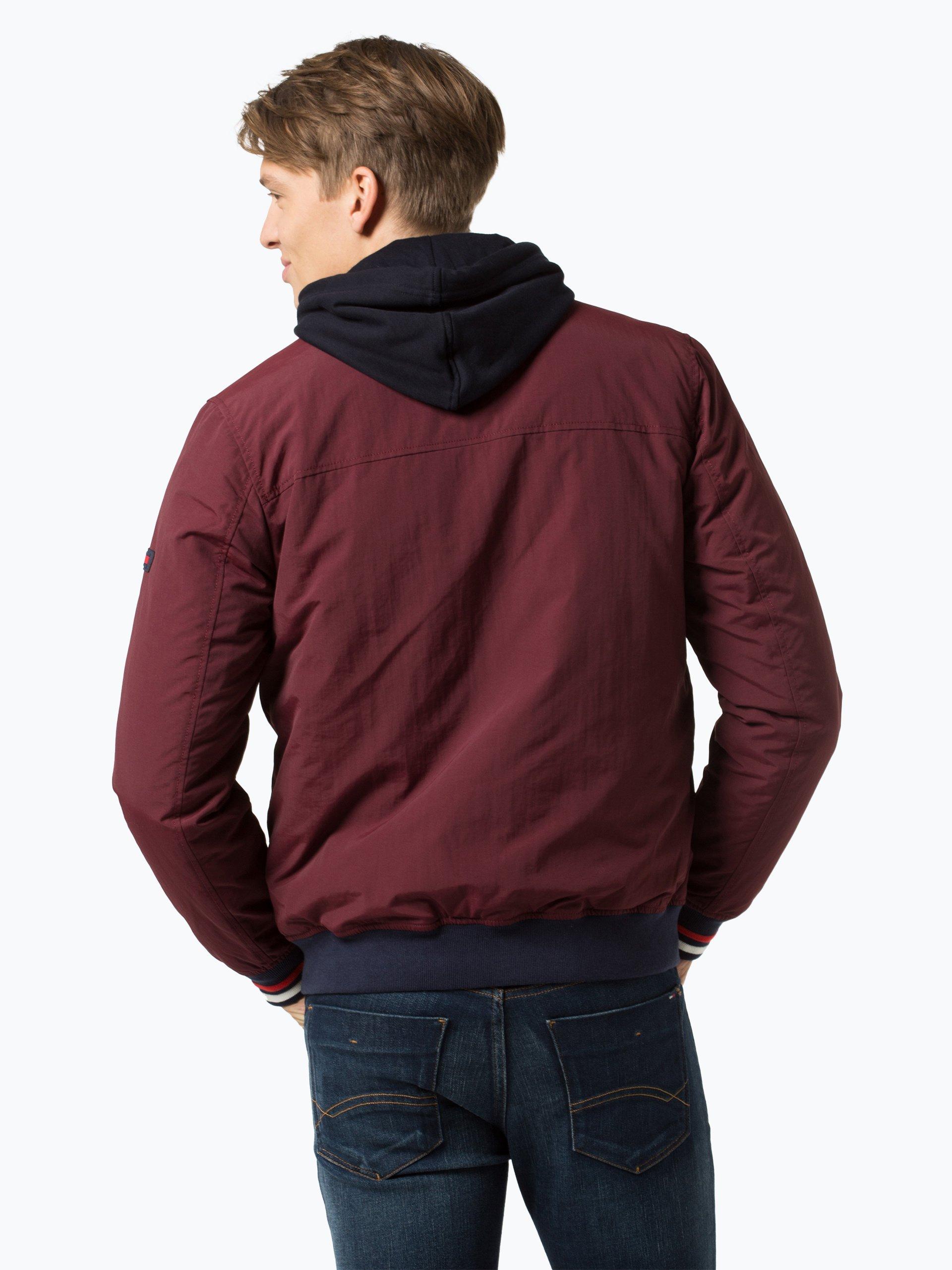tommy jeans herren jacke bordeaux uni online kaufen peek. Black Bedroom Furniture Sets. Home Design Ideas