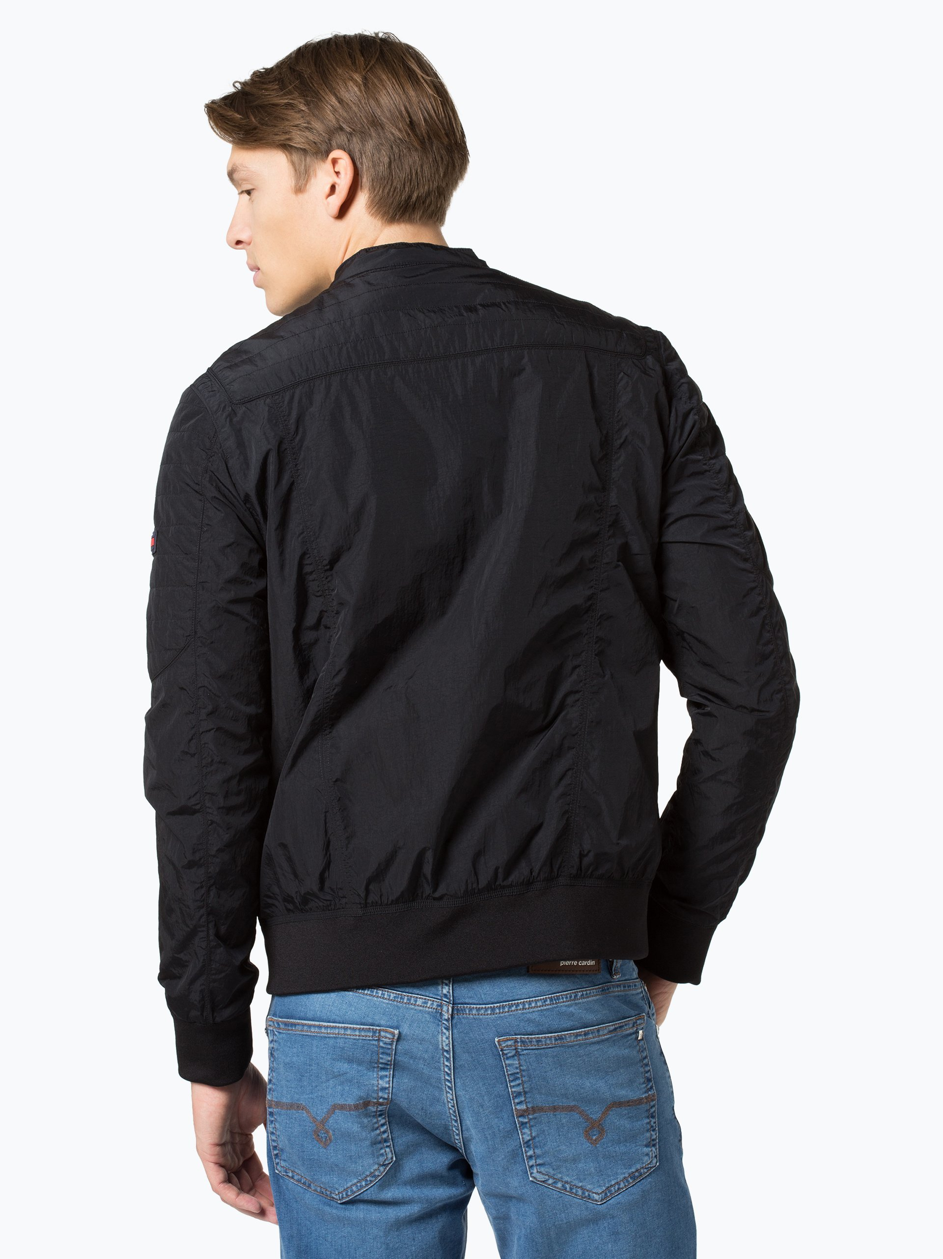 Tommy jeans herren jacke schwarz uni online kaufen for Garderobe jacke