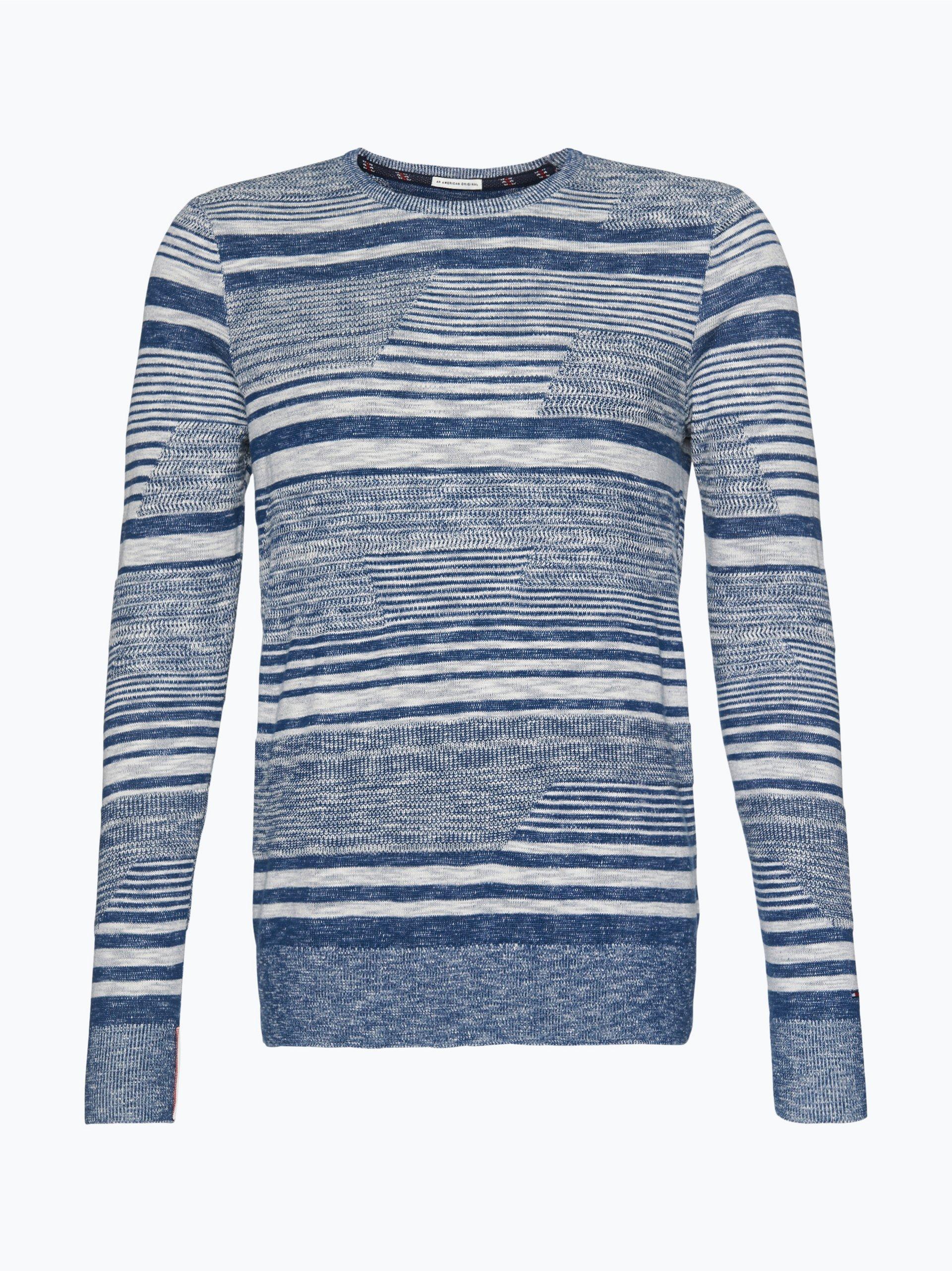 tommy jeans herren pullover indigo gestreift online kaufen. Black Bedroom Furniture Sets. Home Design Ideas