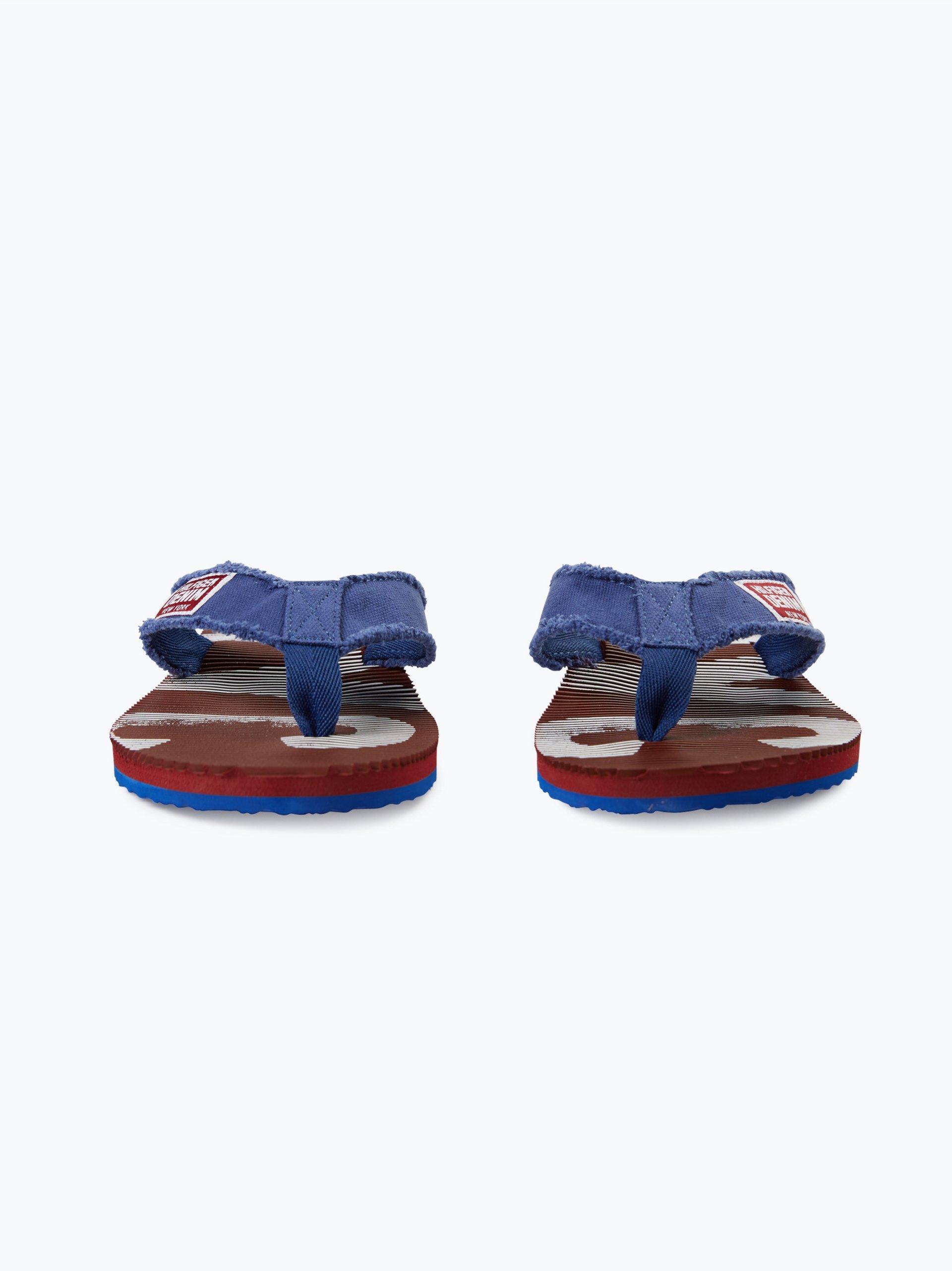 tommy jeans herren sandalen beach 6d blau uni online. Black Bedroom Furniture Sets. Home Design Ideas