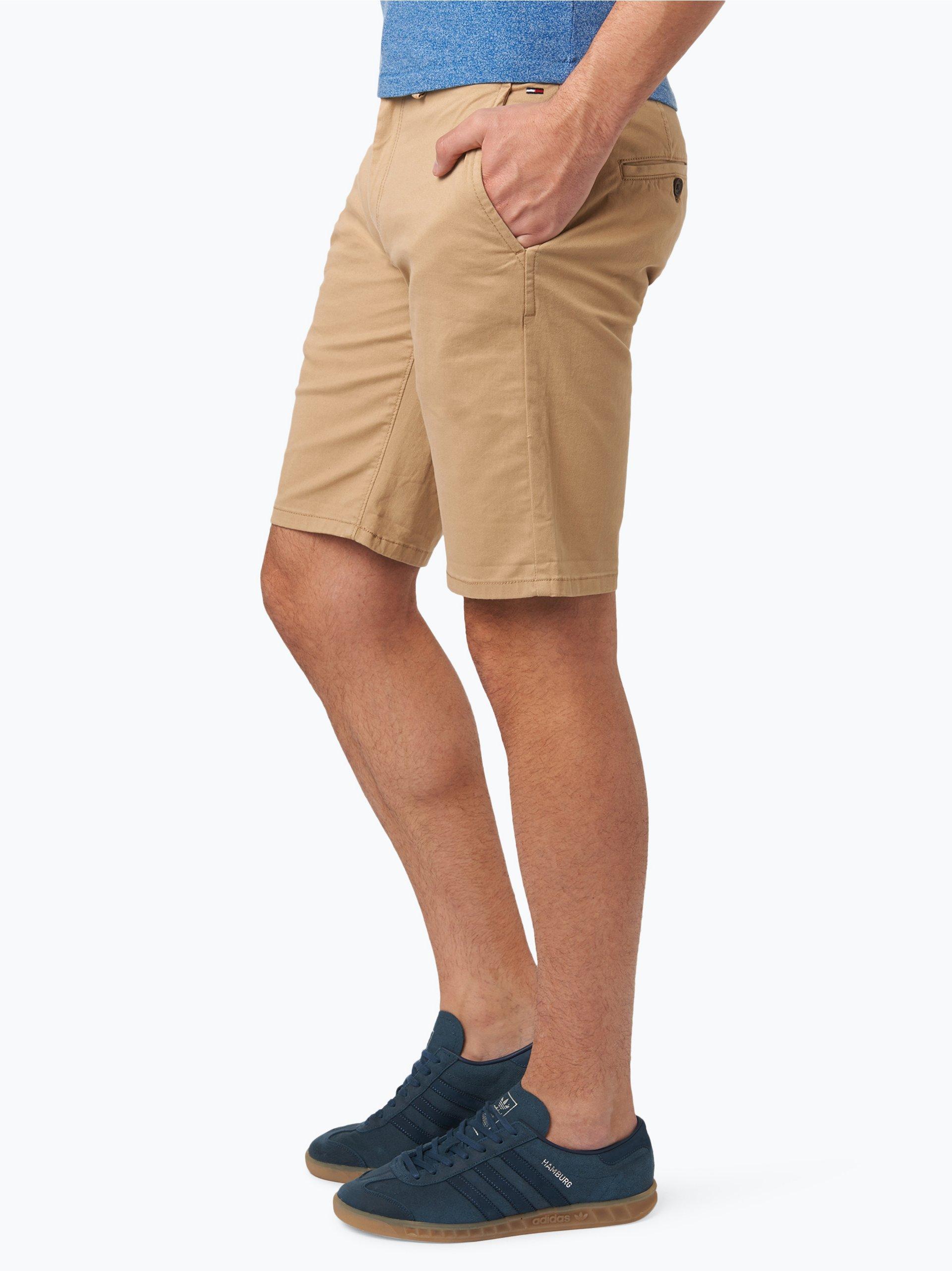 tommy jeans herren shorts beige uni online kaufen. Black Bedroom Furniture Sets. Home Design Ideas