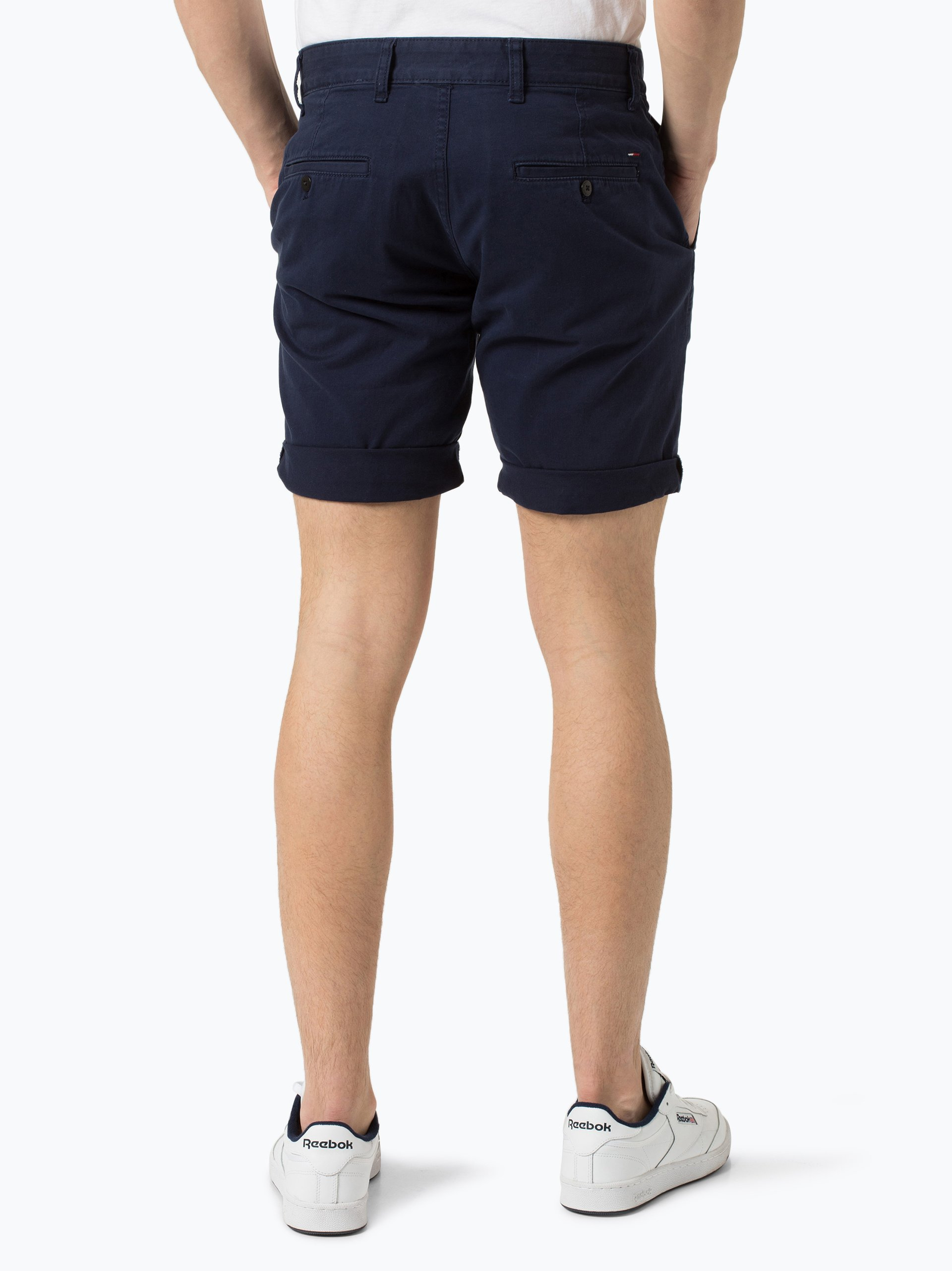 tommy jeans herren shorts marine uni online kaufen. Black Bedroom Furniture Sets. Home Design Ideas