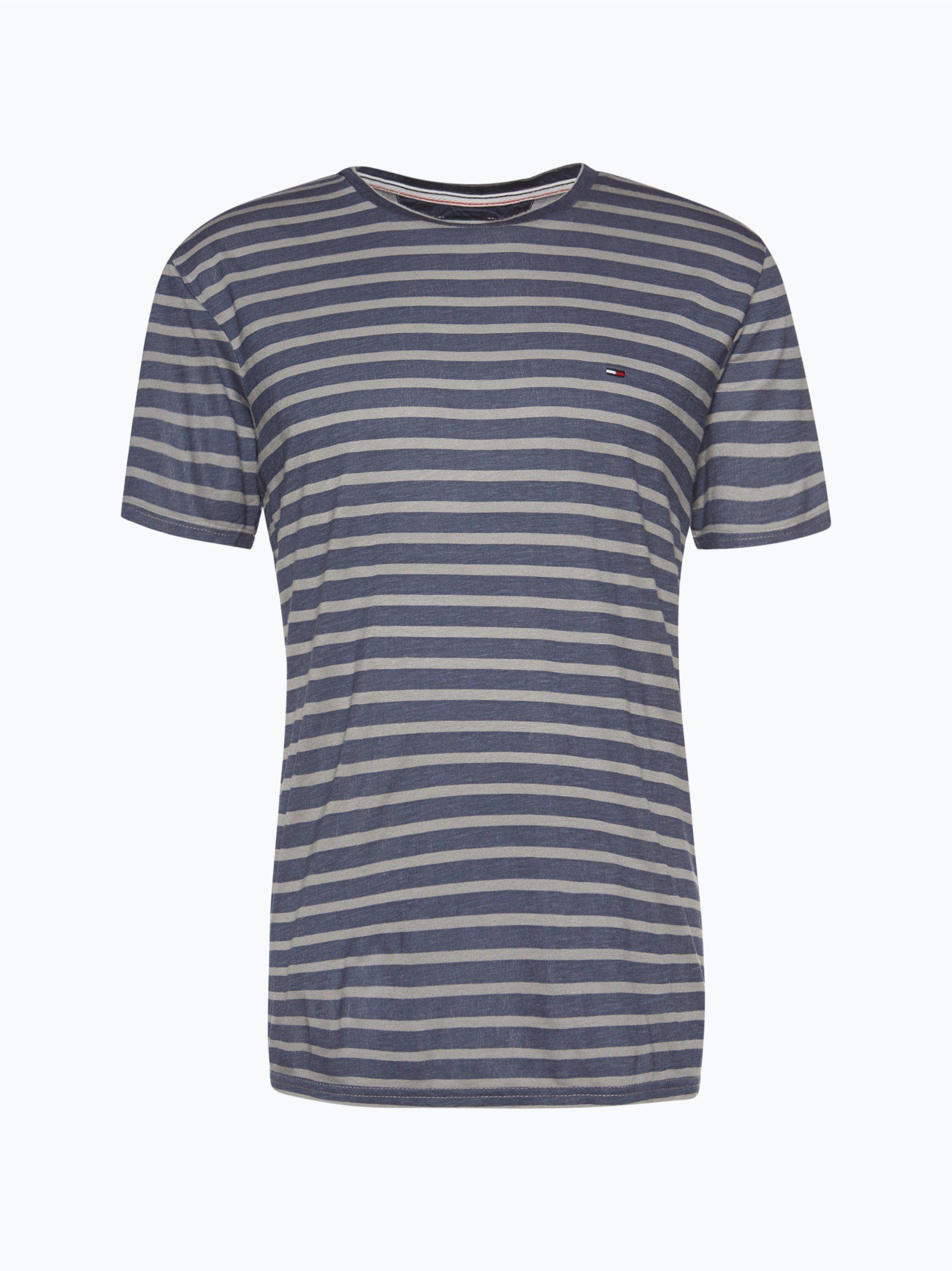 tommy jeans herren t shirt grau gestreift online kaufen. Black Bedroom Furniture Sets. Home Design Ideas