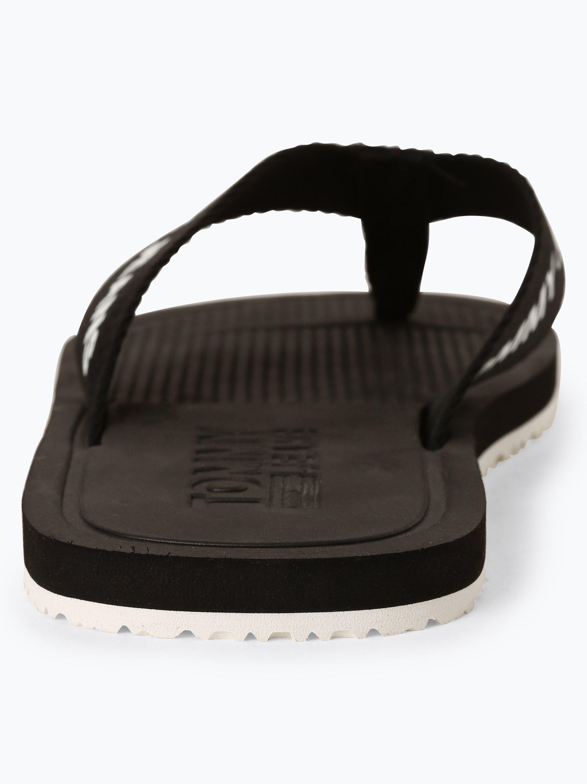 Tommy Jeans Męskie pantofle kąpielowe z dodatkiem skóry