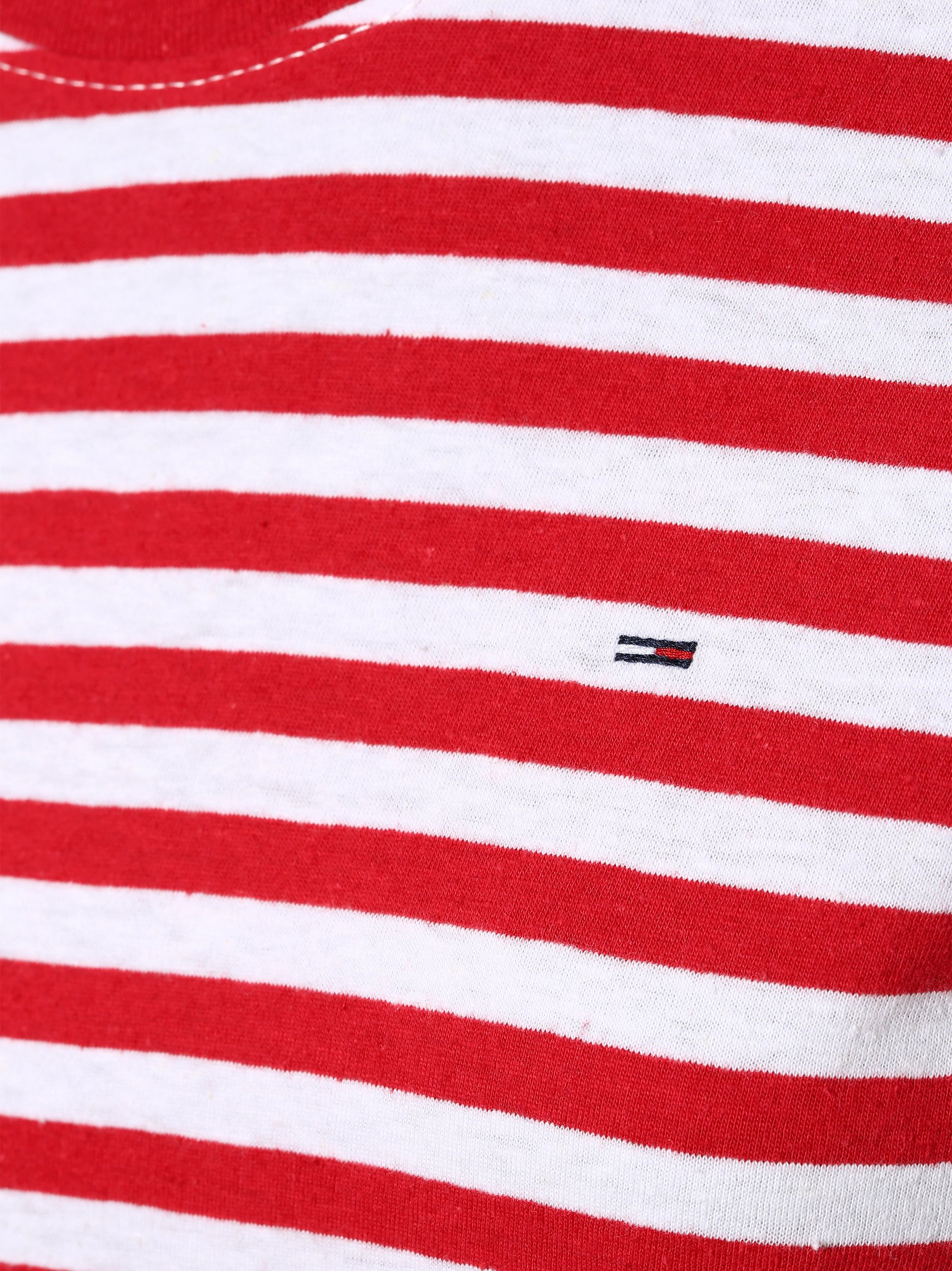 Tommy Jeans T-shirt damski z dodatkiem lnu