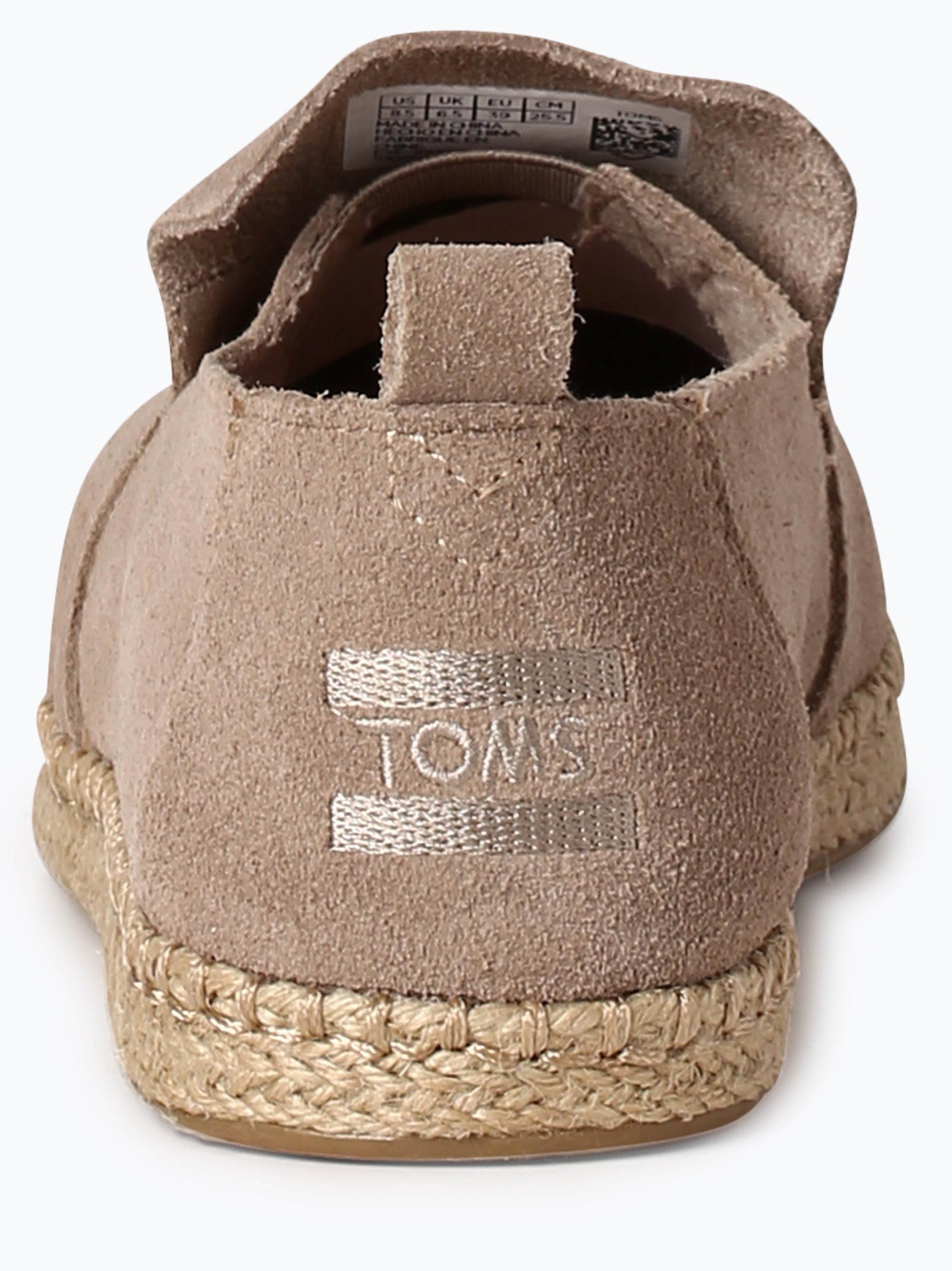 toms damen espadrilles aus leder taupe uni online kaufen peek und cloppenburg de. Black Bedroom Furniture Sets. Home Design Ideas