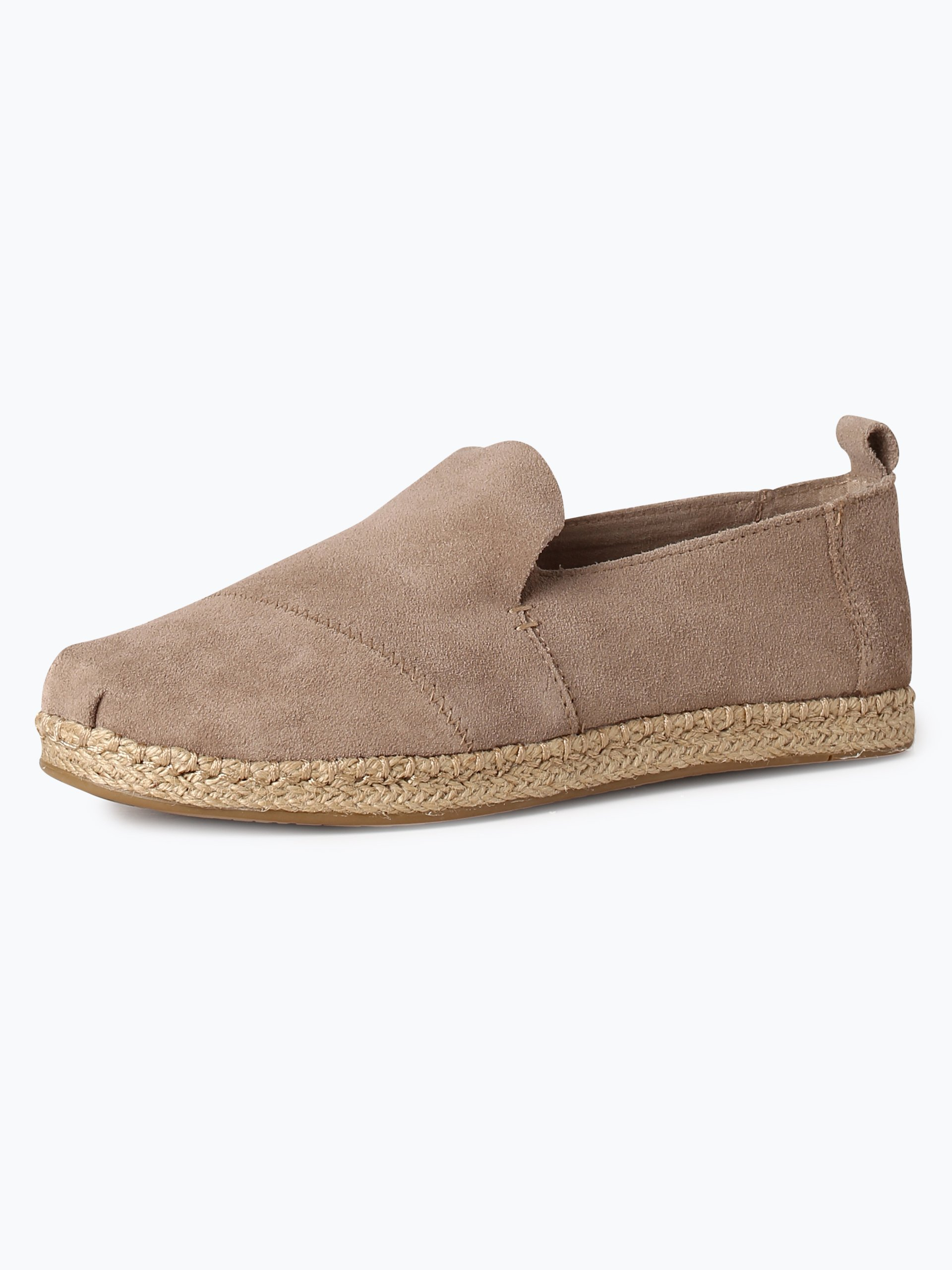 toms damen espadrilles aus leder taupe uni online kaufen vangraaf com. Black Bedroom Furniture Sets. Home Design Ideas