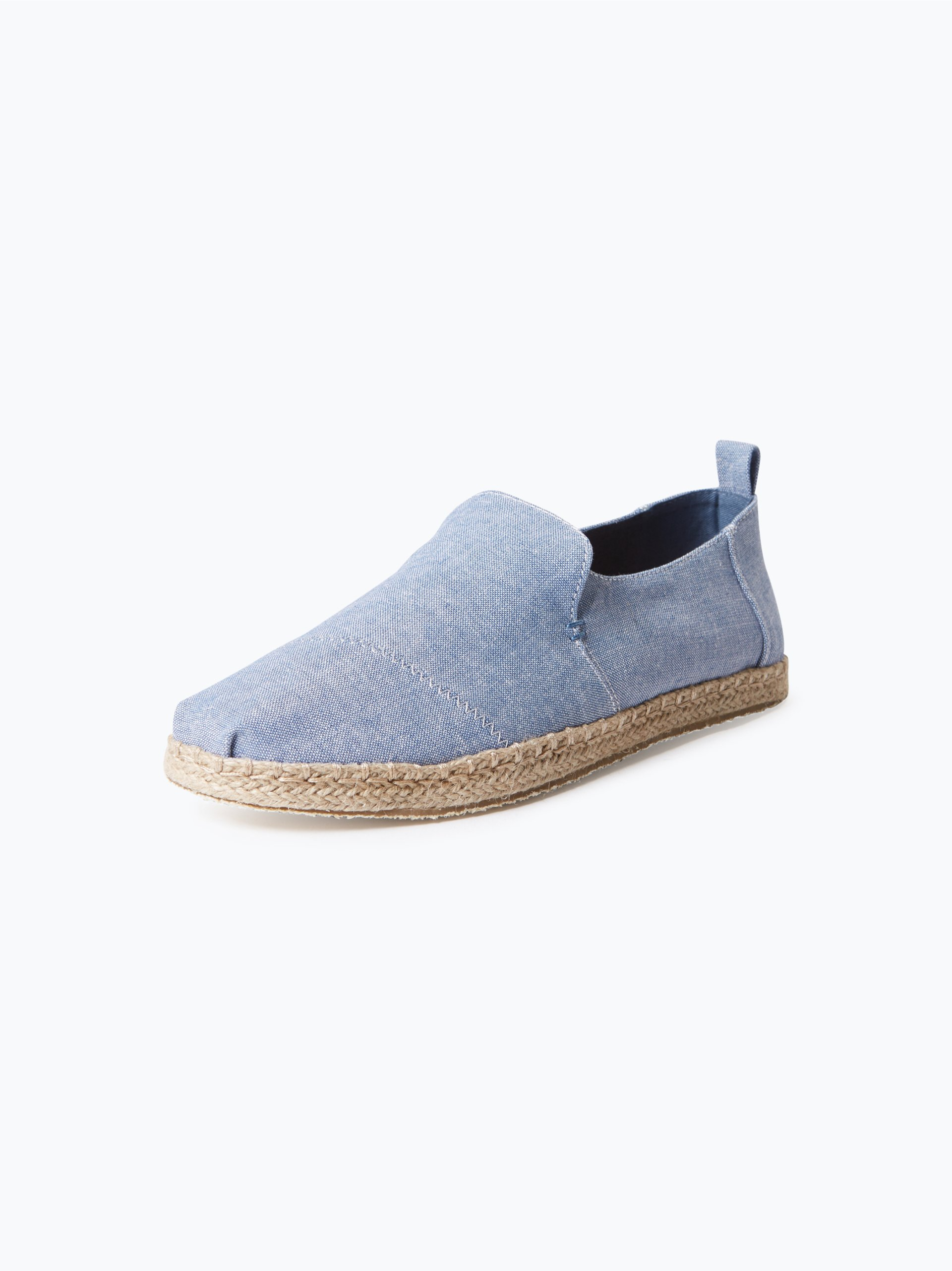 toms herren espadrilles blau uni online kaufen vangraaf com. Black Bedroom Furniture Sets. Home Design Ideas