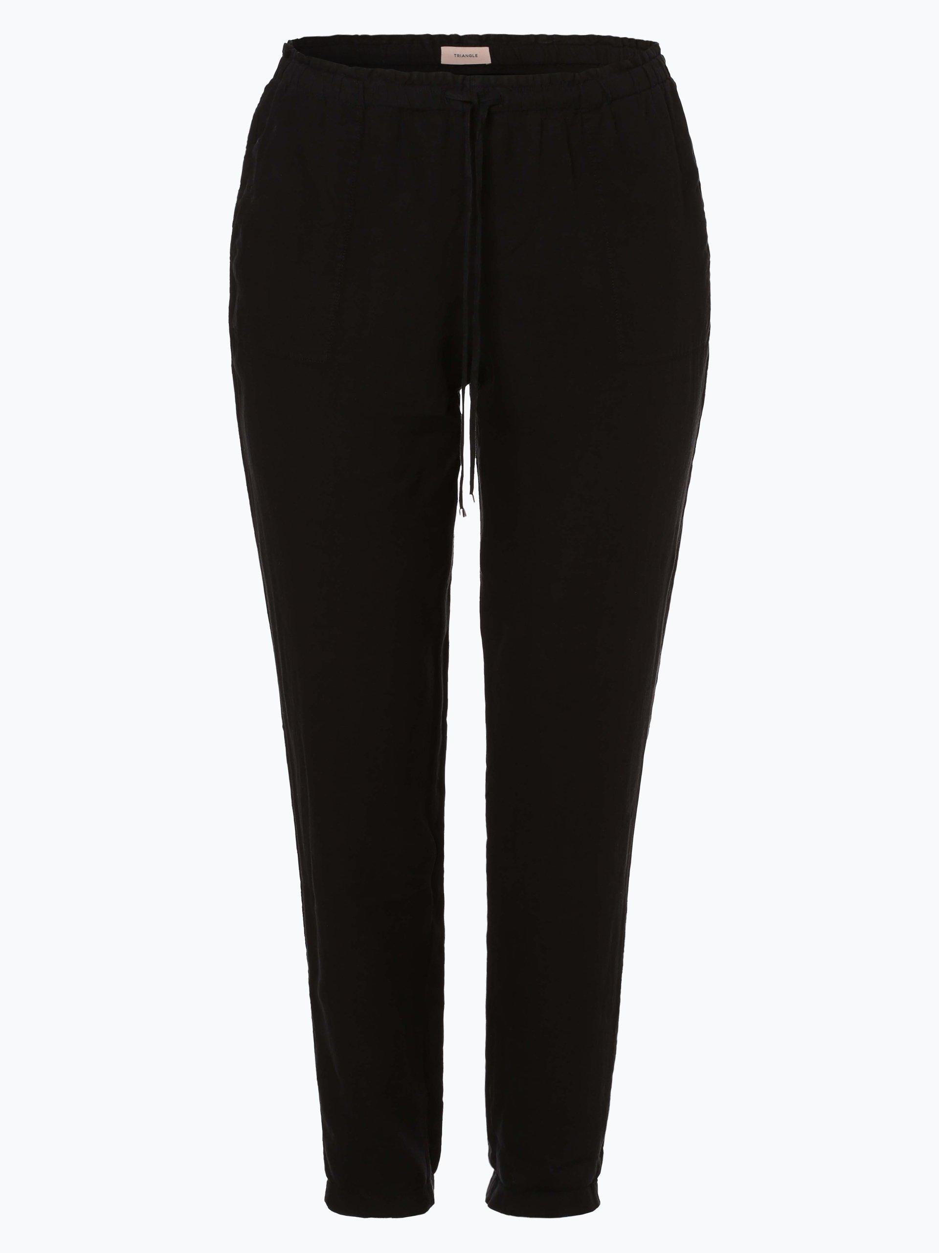 Triangle Damskie spodnie lniane
