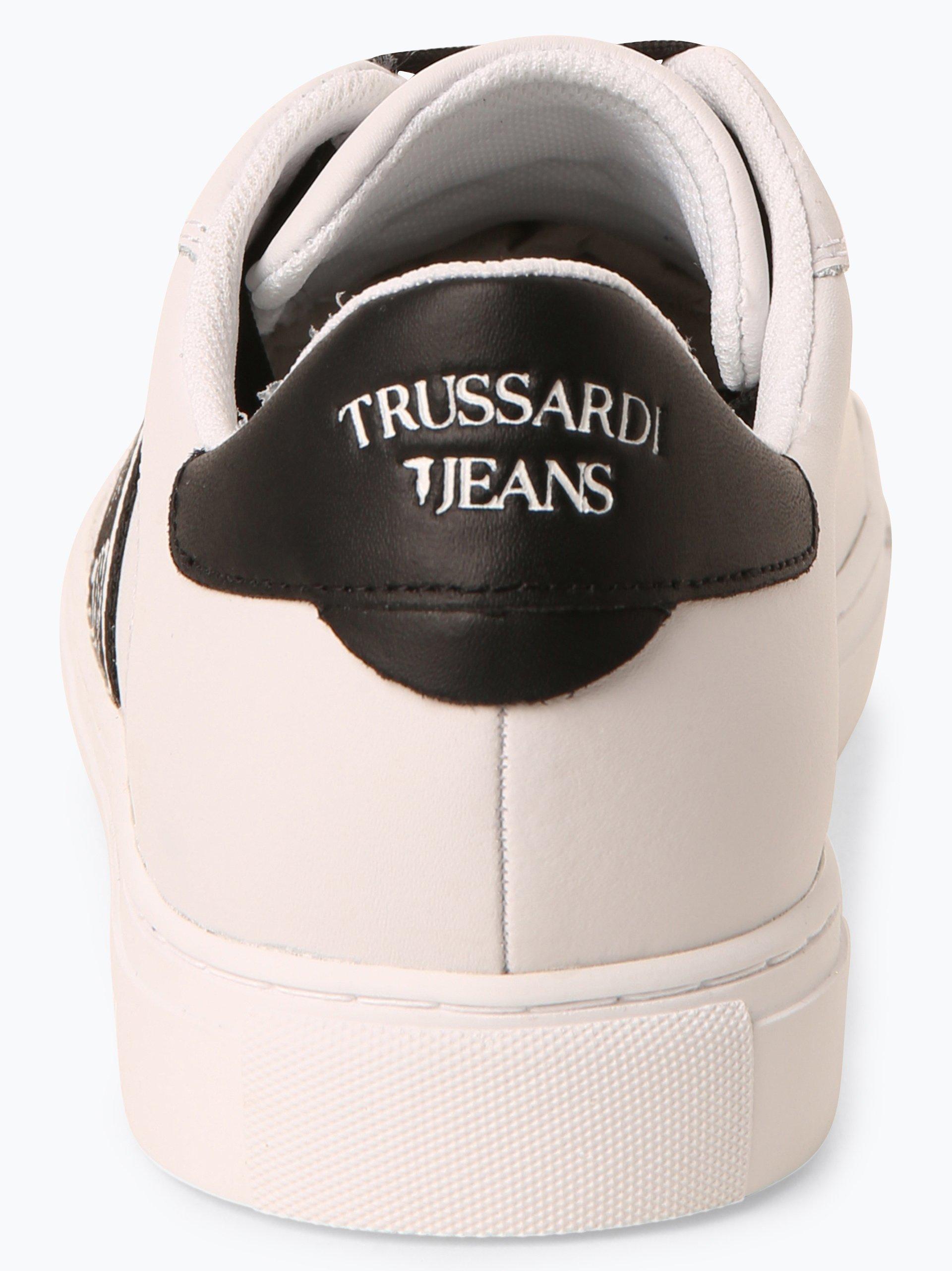 Trussadi Jeans Męskie tenisówki ze skóry