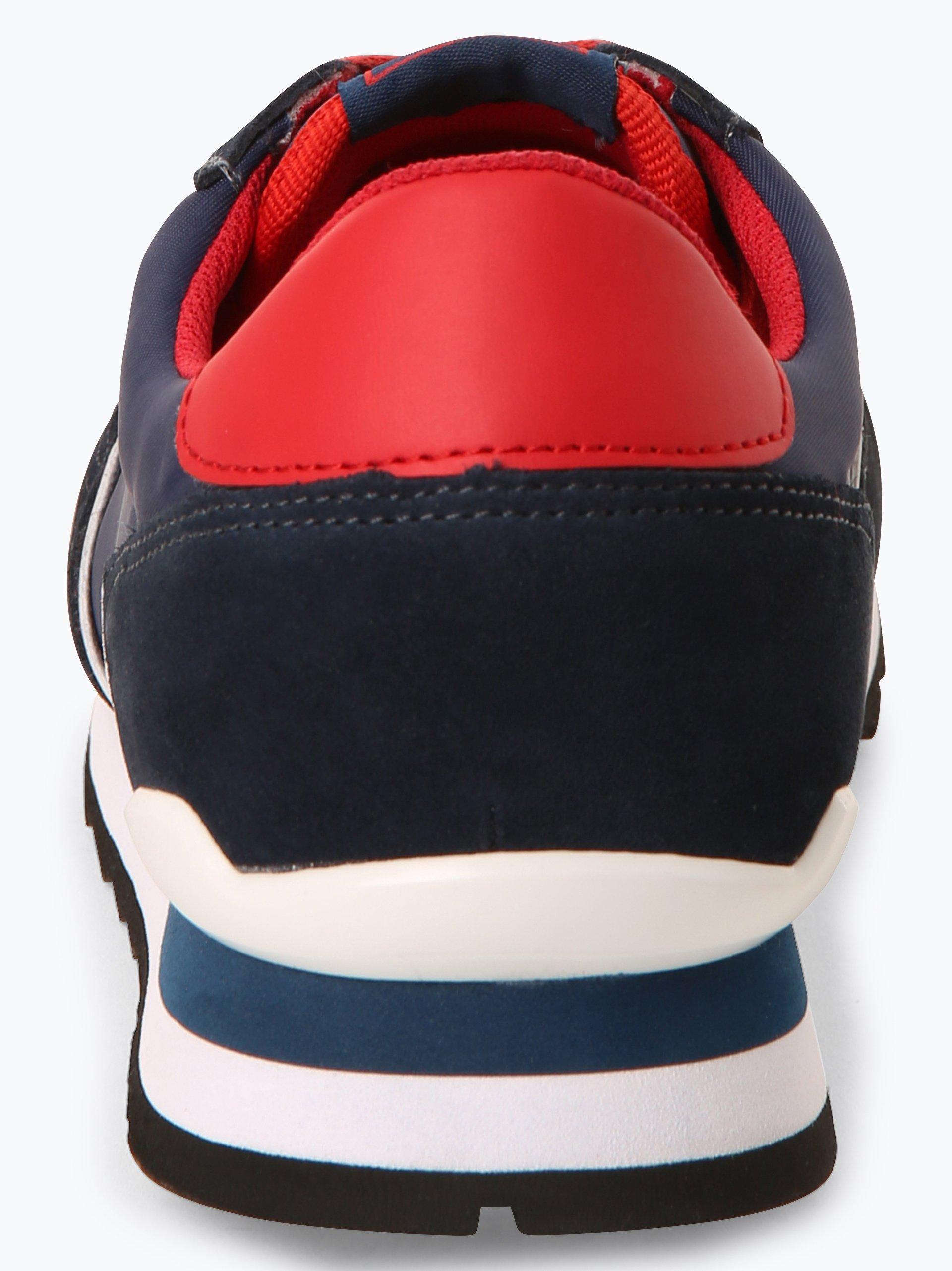 Trussadi Jeans Tenisówki męskie z dodatkiem skóry