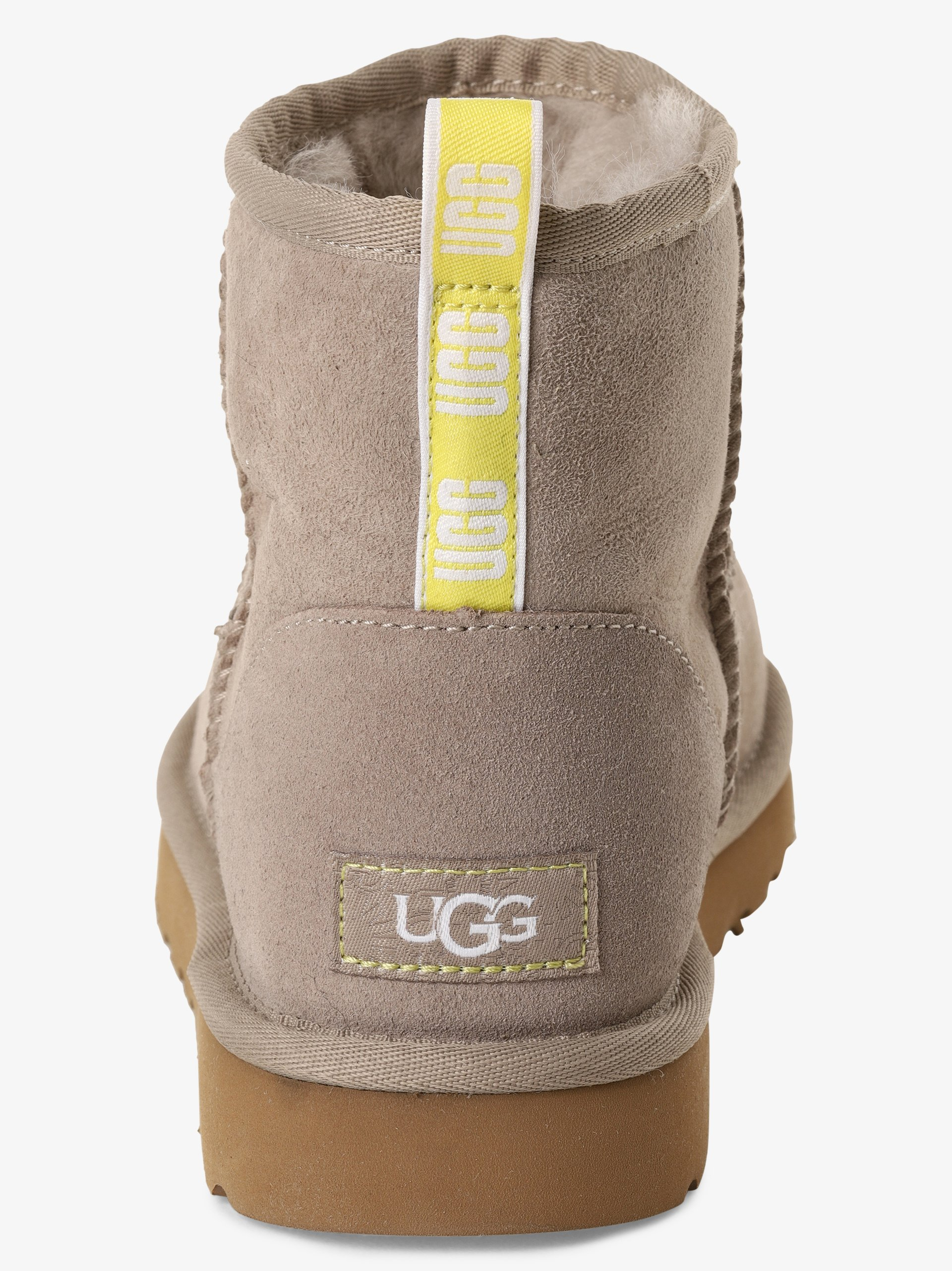 UGG Damen Boots aus Leder - Classic Mini Graphic Logo