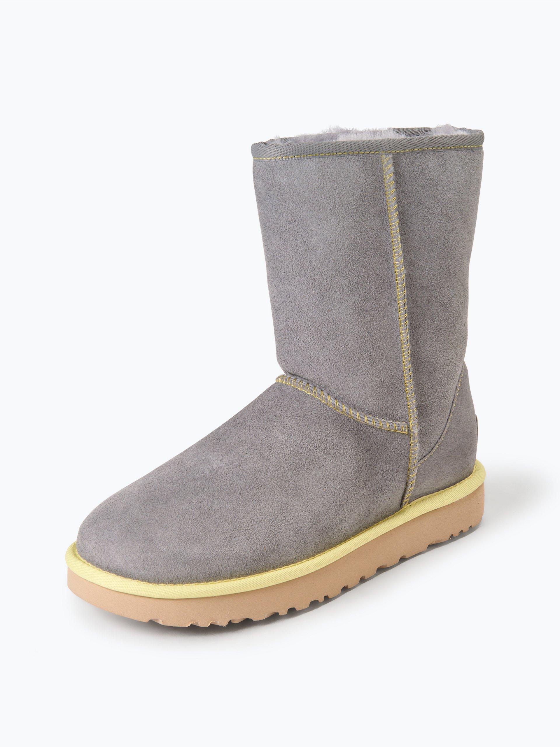 ugg damen boots aus leder mit lammfell futter online kaufen vangraaf com. Black Bedroom Furniture Sets. Home Design Ideas