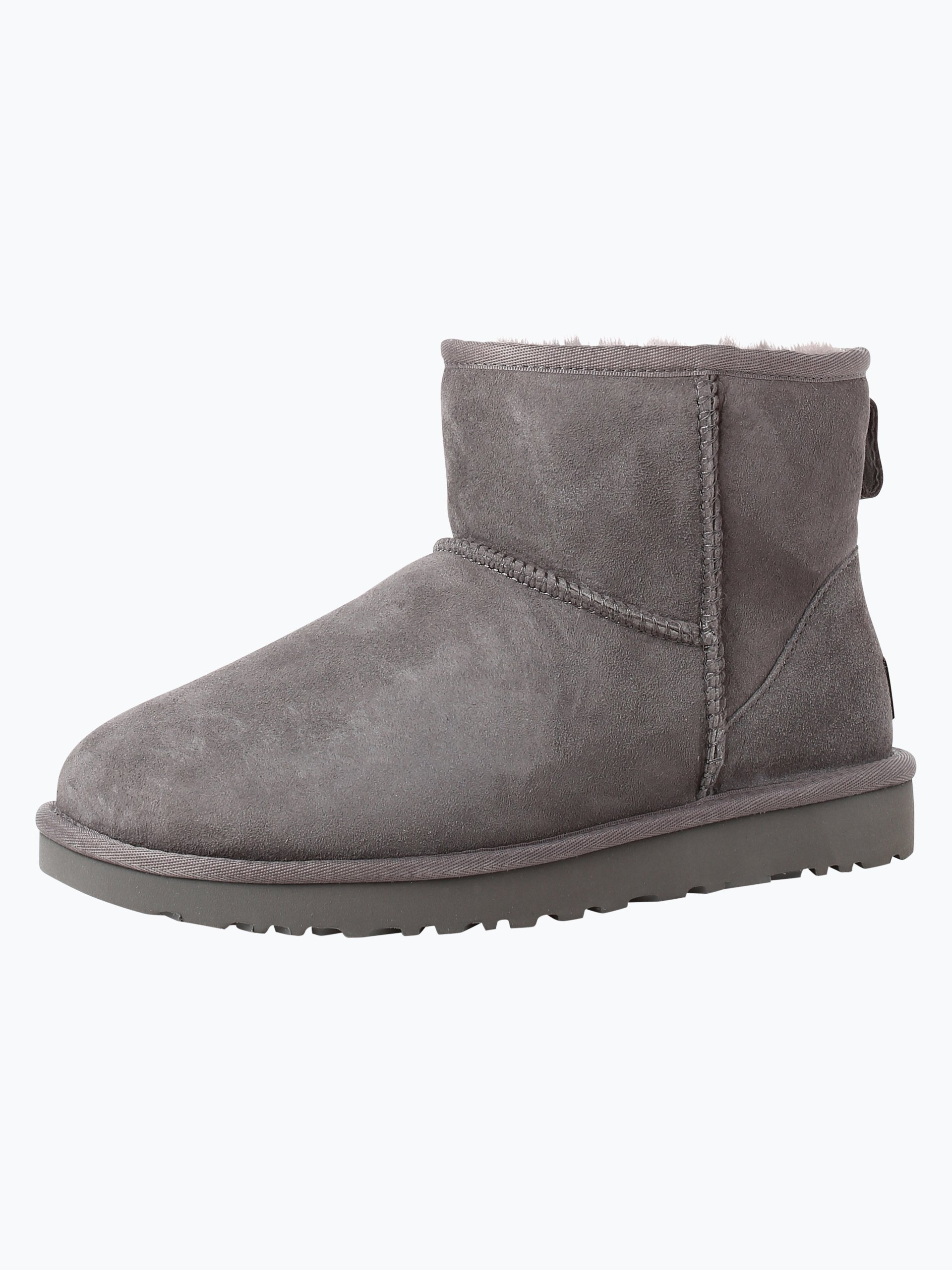 ugg damen boots aus leder grau uni online kaufen peek und cloppenburg de. Black Bedroom Furniture Sets. Home Design Ideas