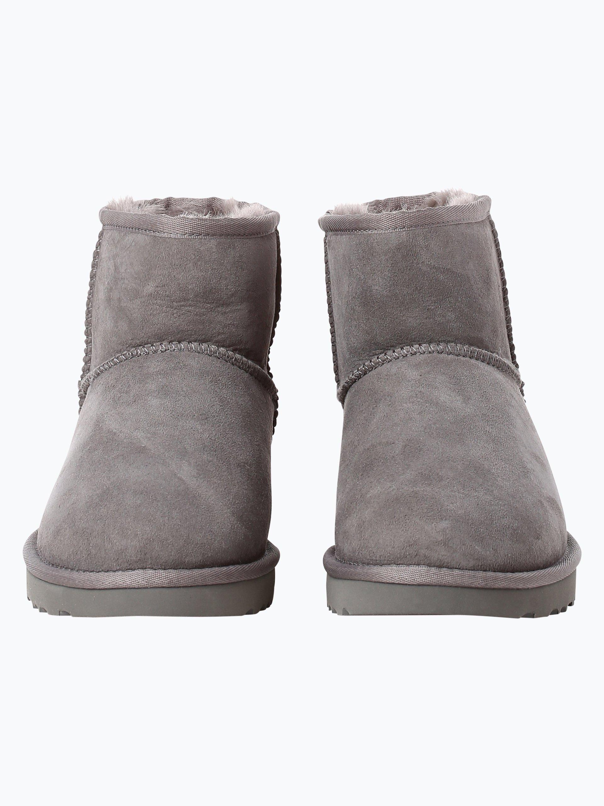 ugg damen boots aus leder grau uni online kaufen. Black Bedroom Furniture Sets. Home Design Ideas