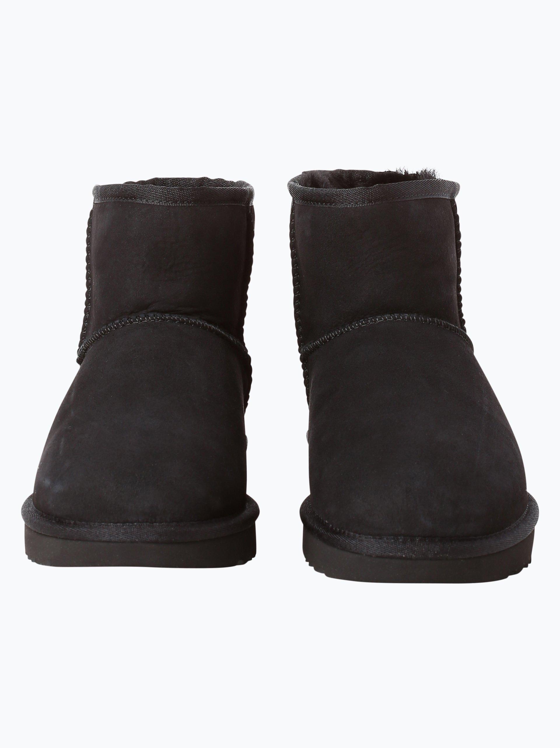ugg damen boots aus leder schwarz uni online kaufen peek. Black Bedroom Furniture Sets. Home Design Ideas