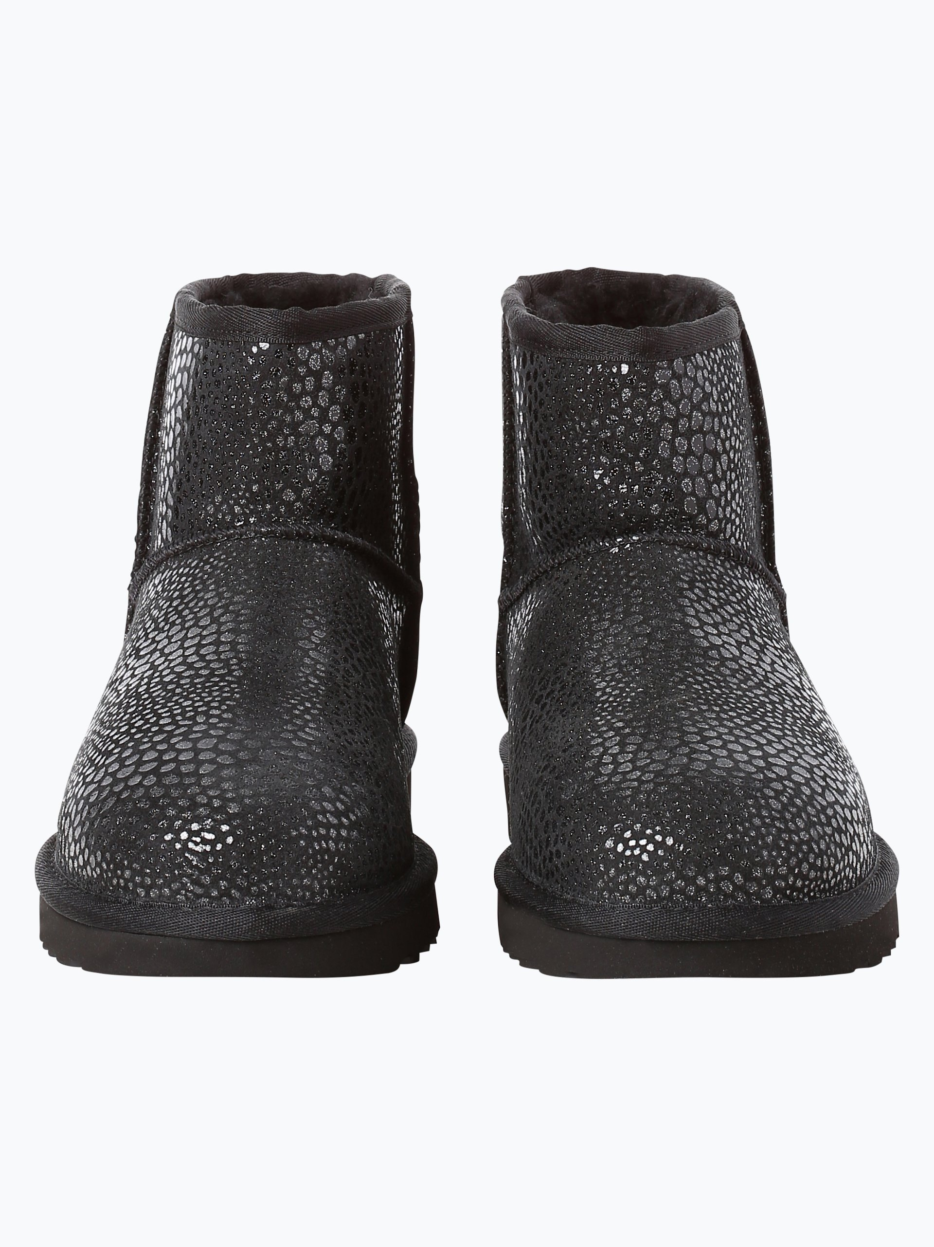 ugg damen boots aus leder schwarz gemustert online kaufen vangraaf com. Black Bedroom Furniture Sets. Home Design Ideas