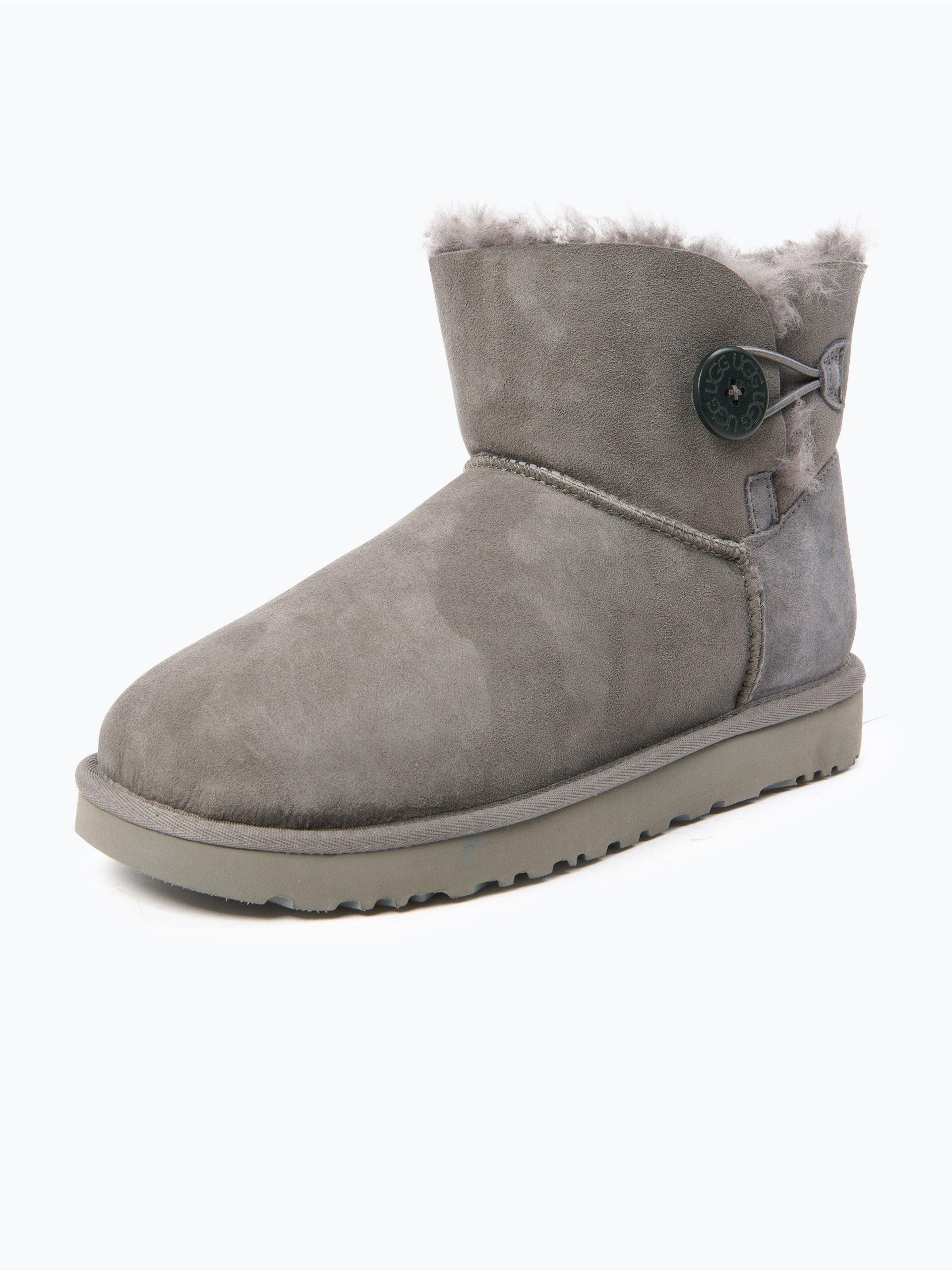 ugg damen boots aus veloursleder mini bailey button ii. Black Bedroom Furniture Sets. Home Design Ideas