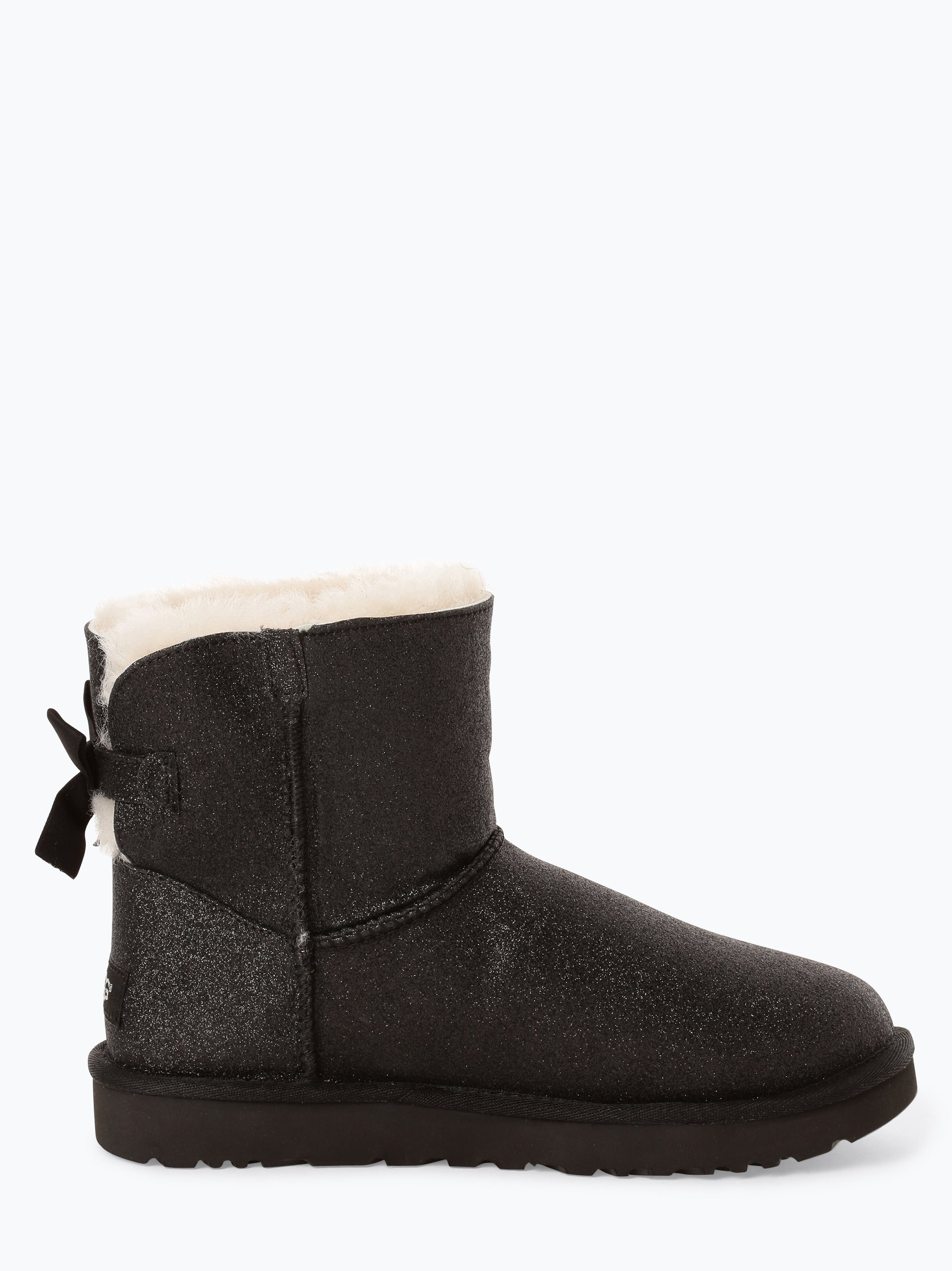 Ugg Damen Boots Mit Leder Anteil Mini Bailey Bow Sparkle