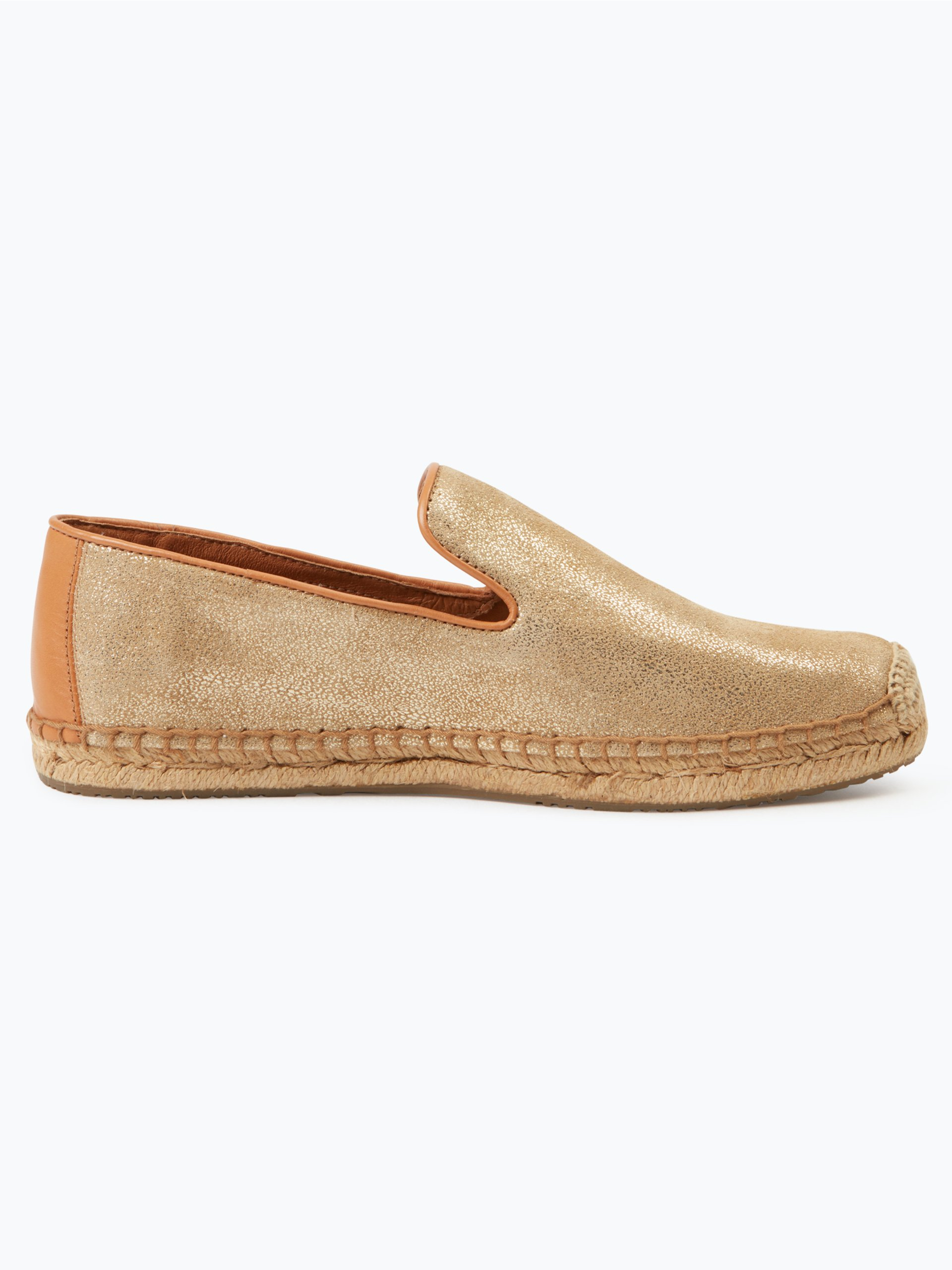 ugg damen espadrilles aus leder w sandrinne ii gold uni online kaufen vangraaf com. Black Bedroom Furniture Sets. Home Design Ideas
