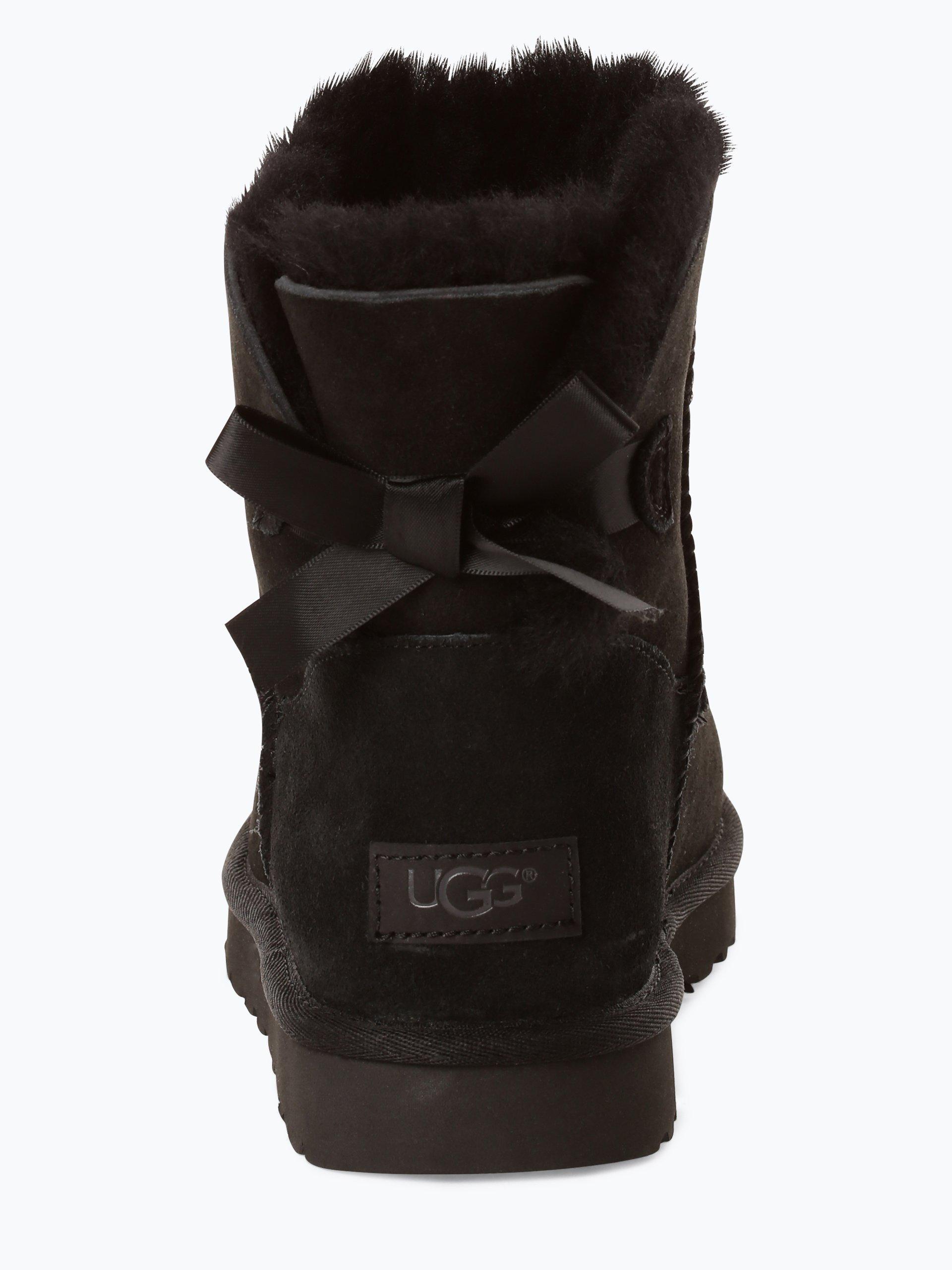 UGG Kozaki damskie ze skóry – Mini Bailey Bow II