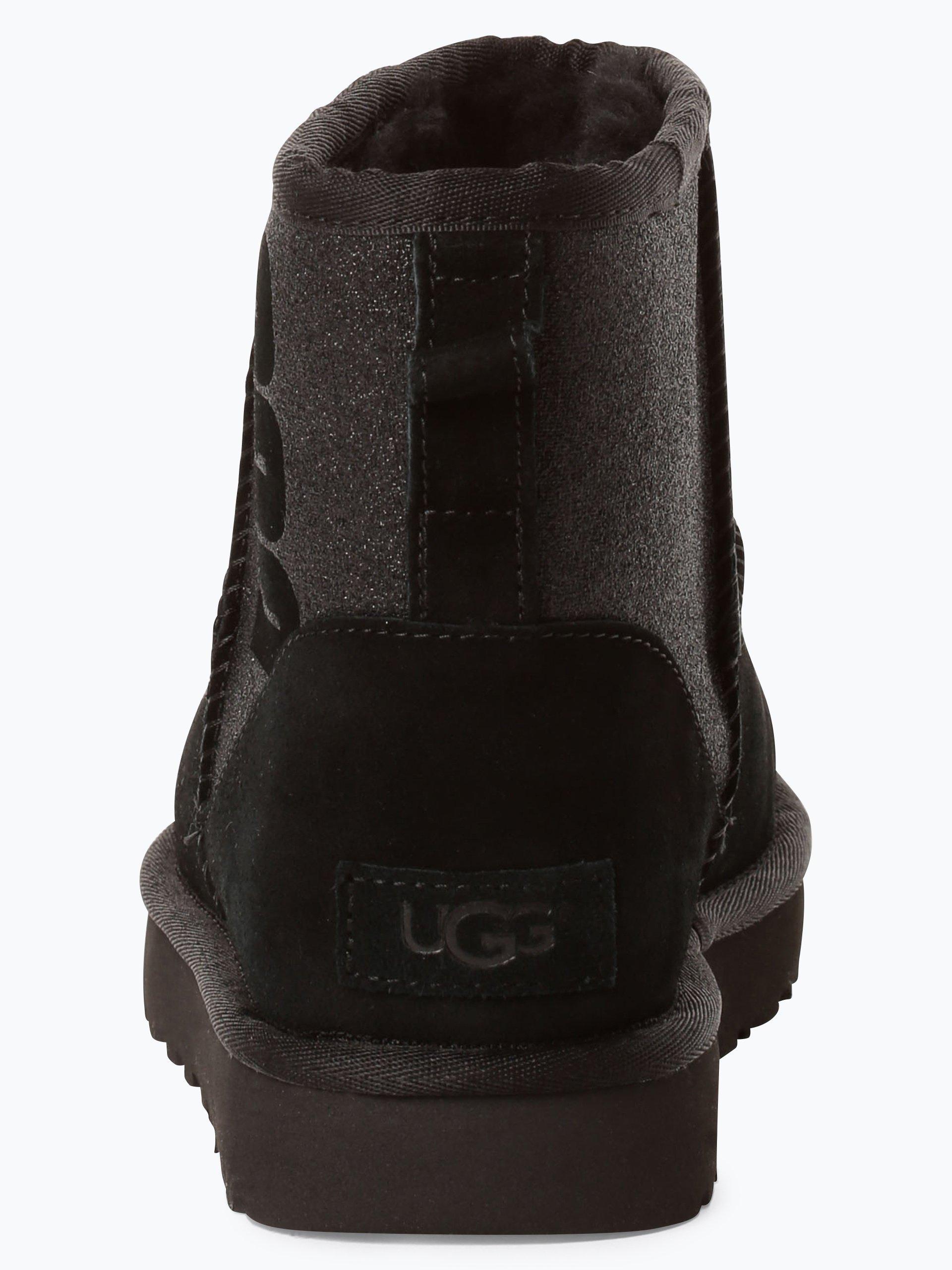 UGG Skórzane kozaki damskie – Classic Mini Sparkle