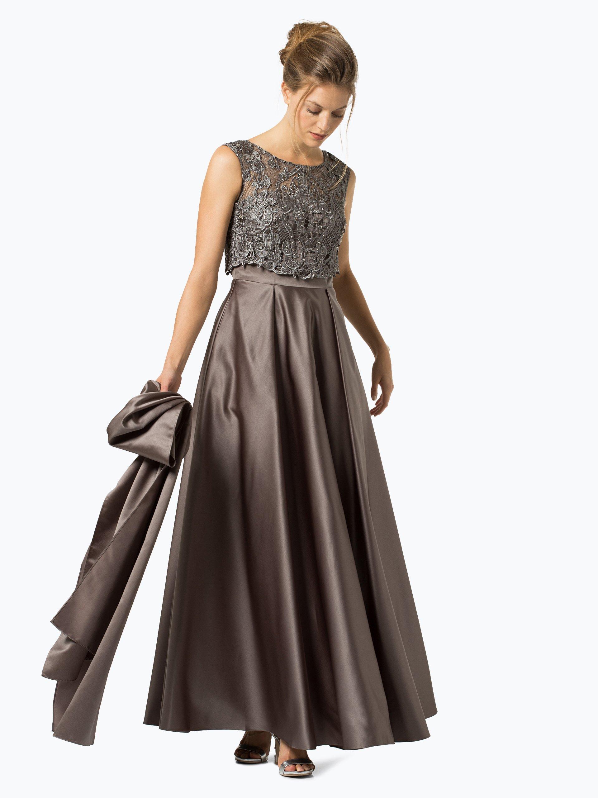 Unique Damen Abendkleid mit Stola grau uni online kaufen | PEEK-UND ...