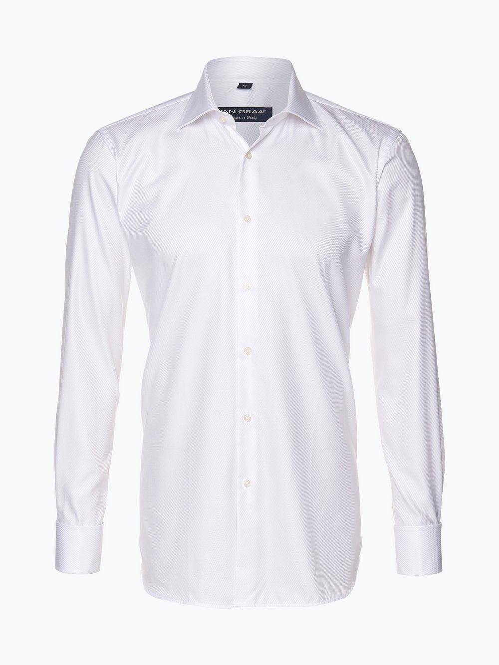 van graaf herren hemd mit umschlagmanschetten und einstecktuch  van graaf herren hemd mit umschlagmanschetten und einstecktuch manifattura tessuti italiani 0