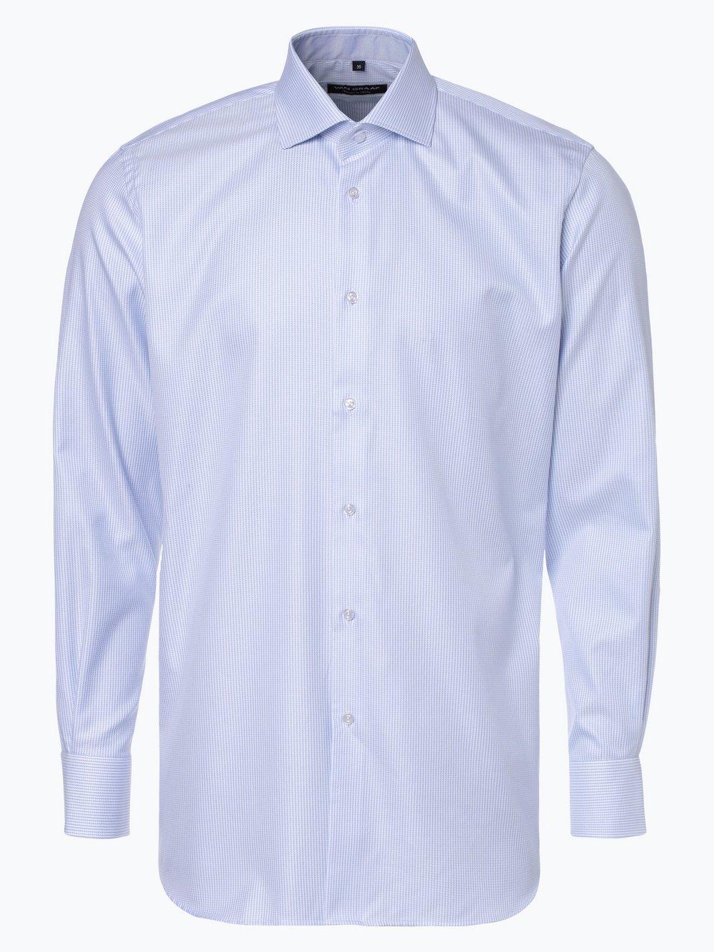 94295d3c4180 Van Graaf Herren Hemd hellblau gemustert online kaufen   PEEK-UND ...