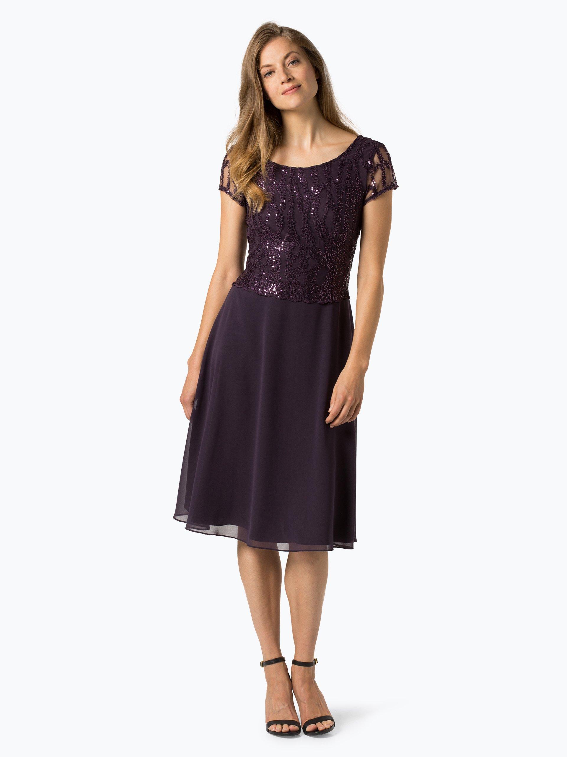 vera mont collection damen abendkleid rosenholz lila uni online kaufen vangraaf com. Black Bedroom Furniture Sets. Home Design Ideas