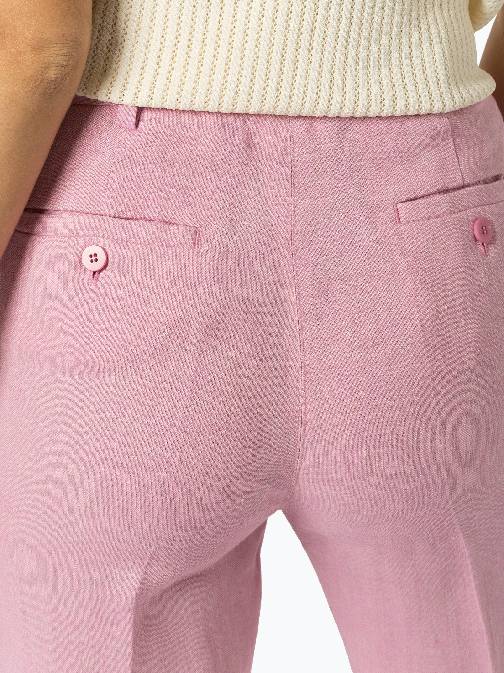 Weekend Max Mara Spodnie damskie z lnu