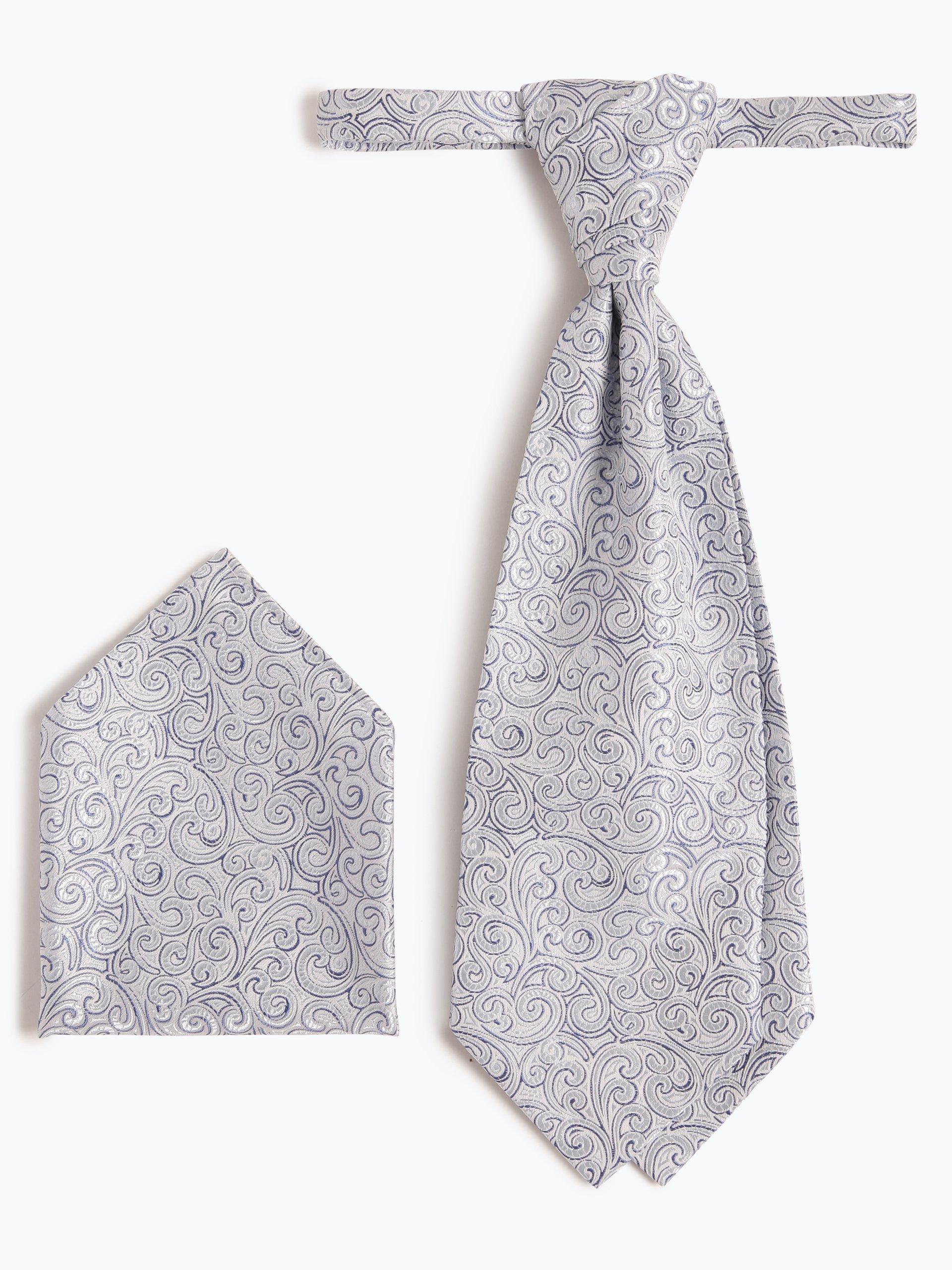Wilvorst Herren Krawatte und Einstecktuch