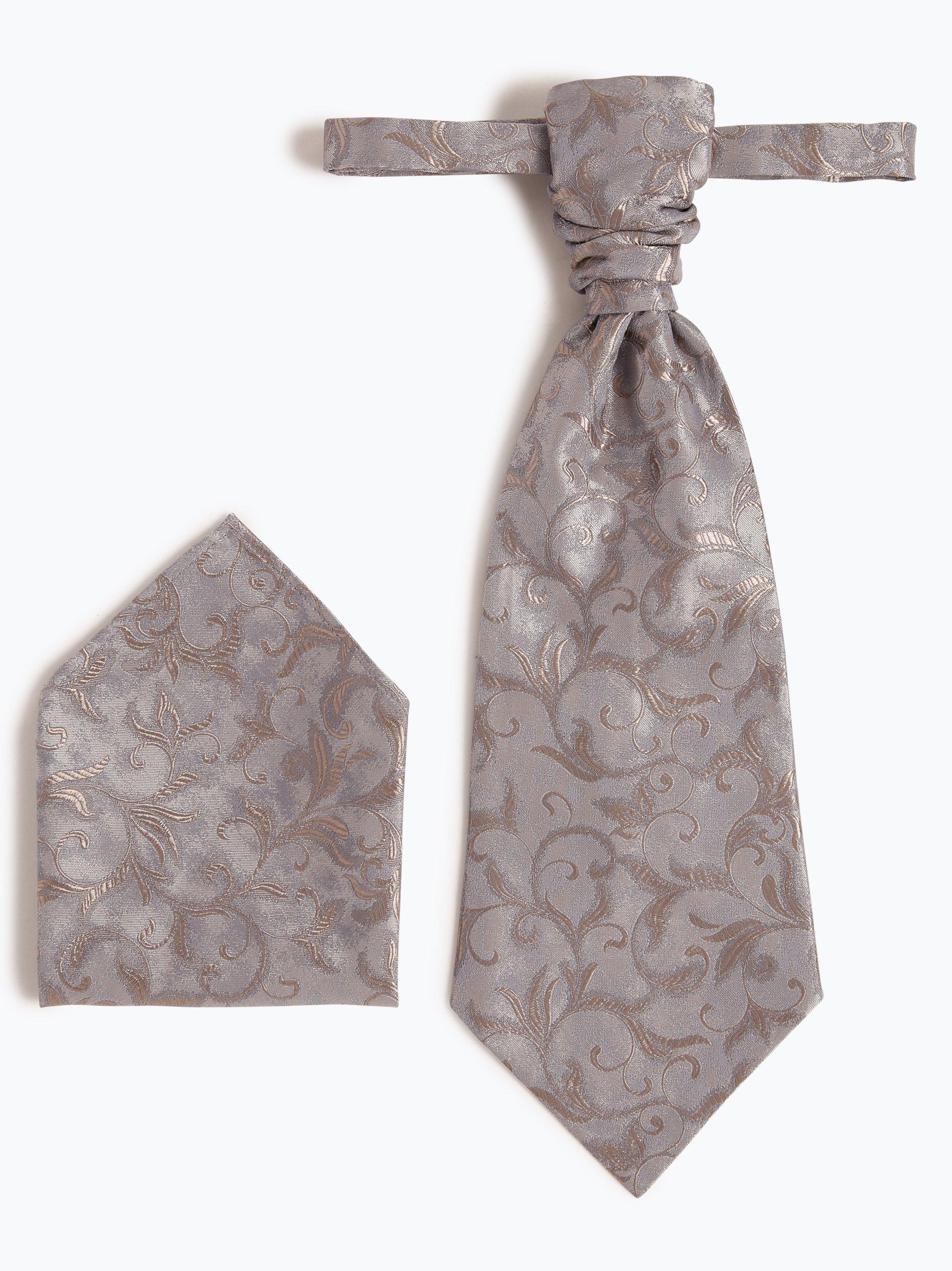 Wilvorst Krawat męski i poszetka